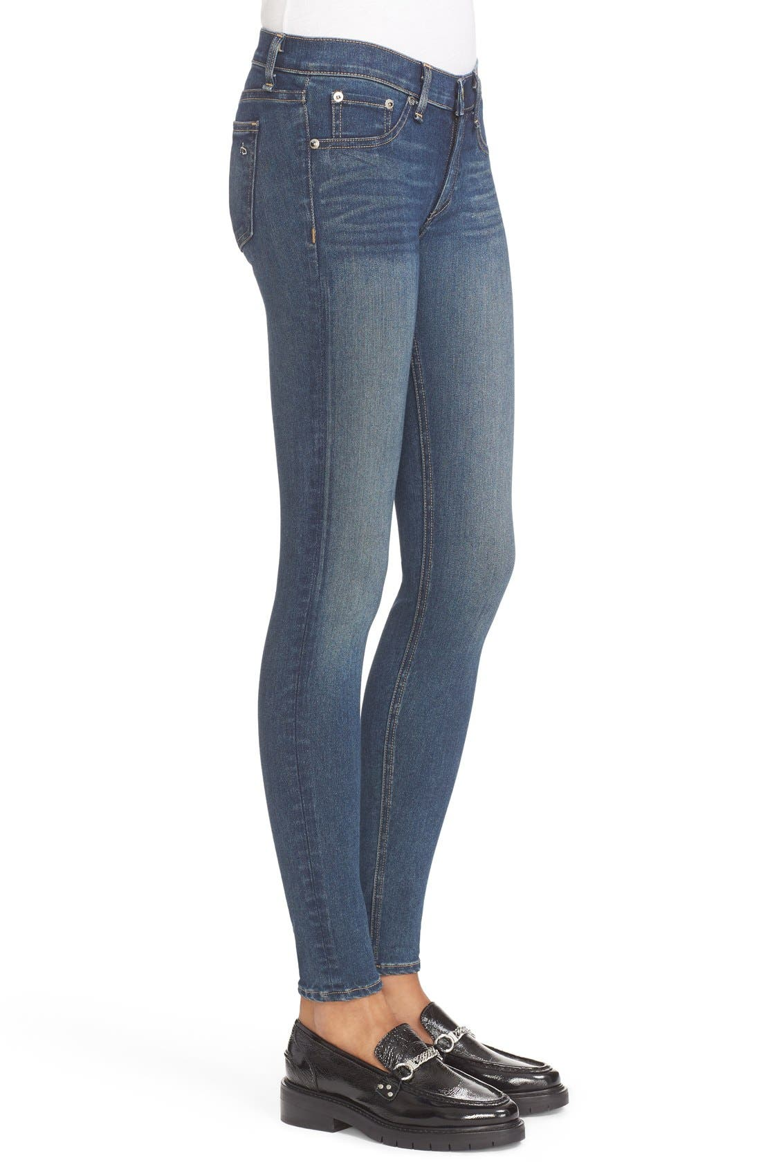 Skinny Jeans,                             Alternate thumbnail 4, color,                             401