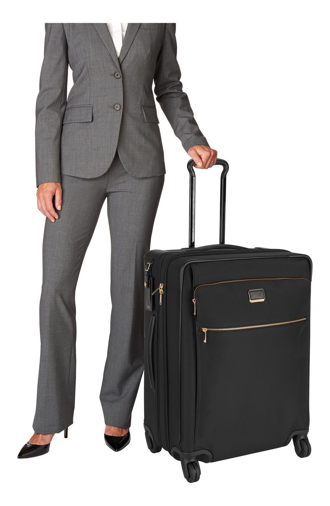 Larkin - Jess Short Trip 26-Inch Expandable 4-Wheel Suitcase,                             Alternate thumbnail 7, color,                             BLACK