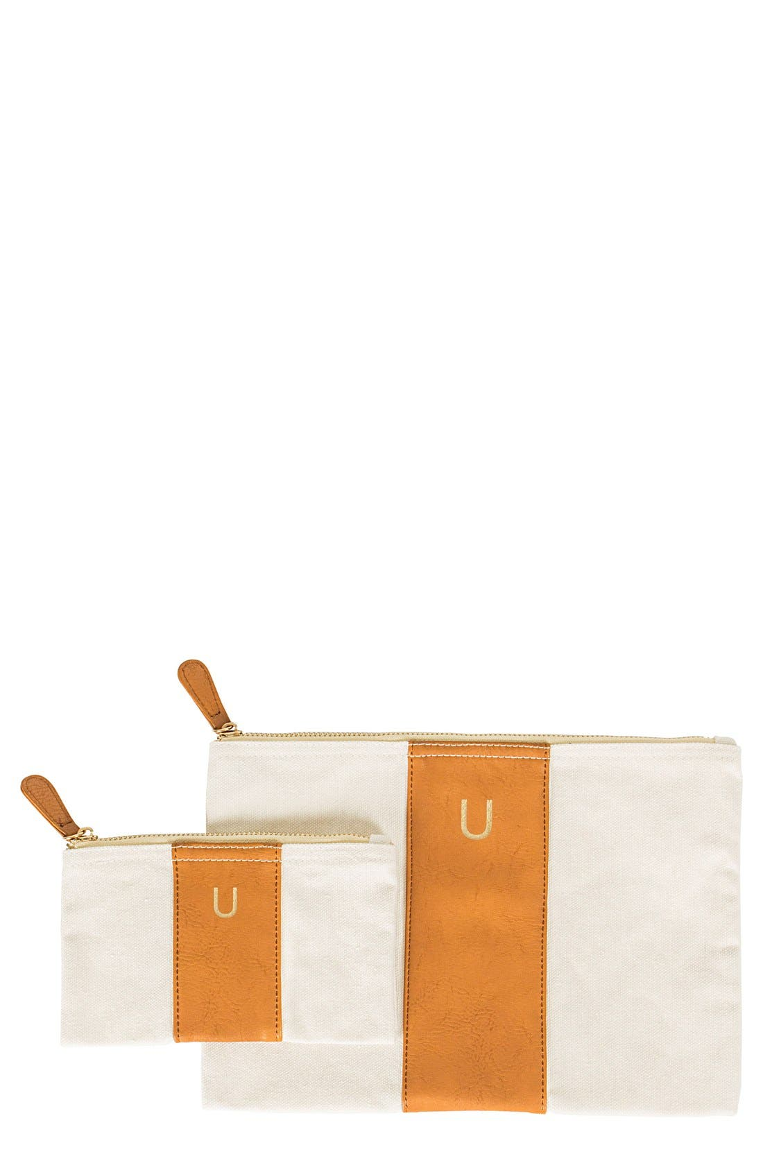 Personalized Faux Leather Clutch,                             Main thumbnail 22, color,