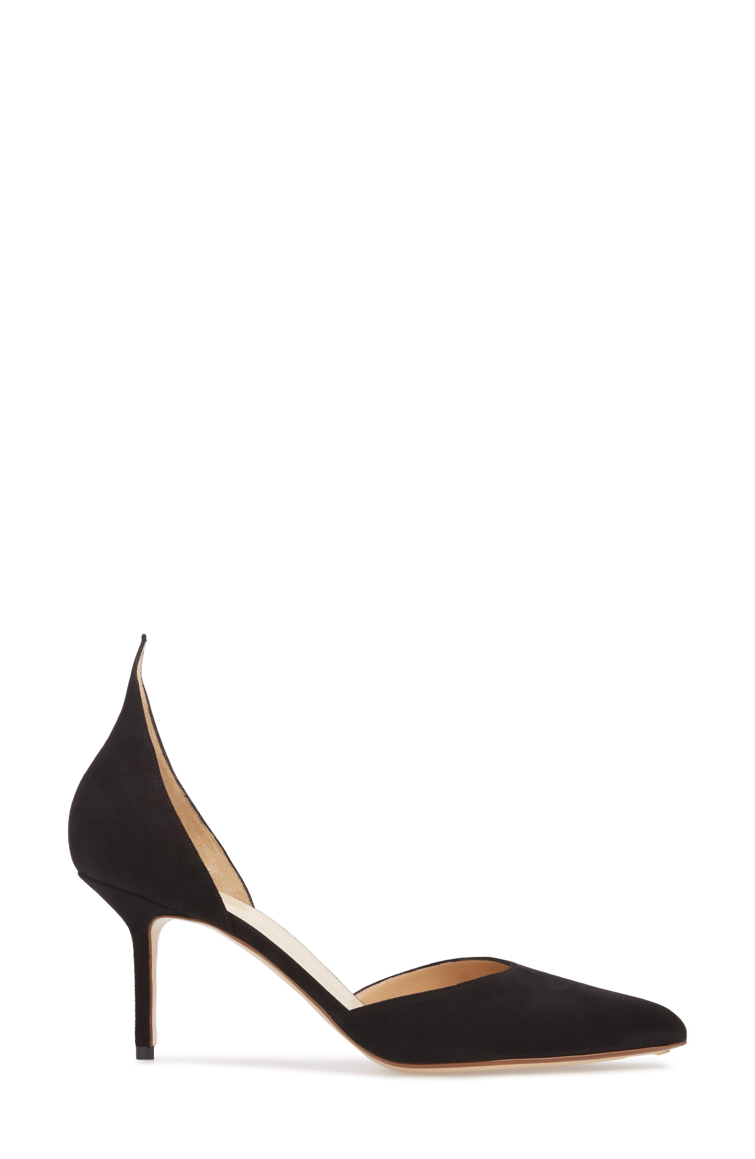 D'Orsay Pump,                             Alternate thumbnail 3, color,                             BLACK