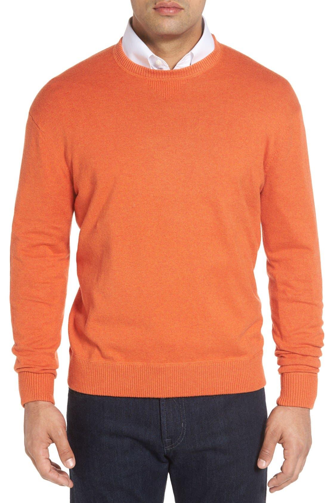 'Jersey Sport' Cotton Blend Crewneck Sweater,                             Main thumbnail 7, color,