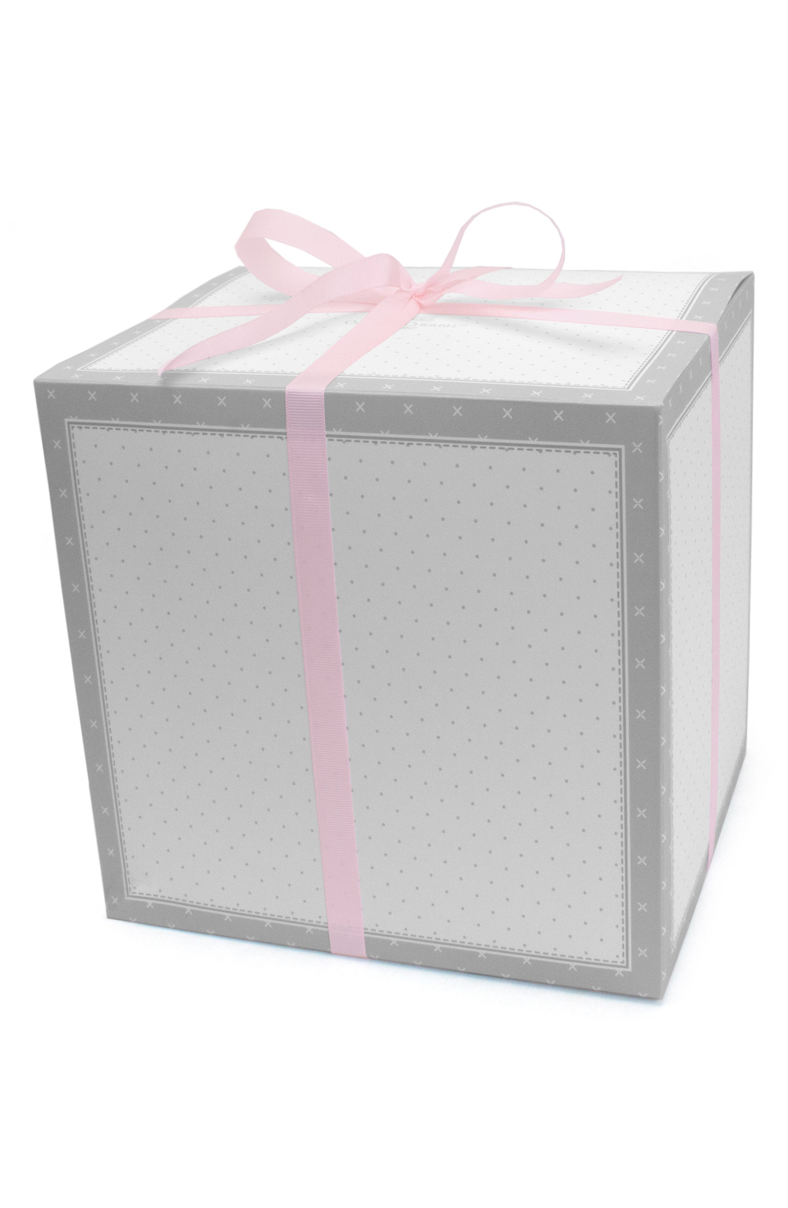 Pink Heart Goldilocks Swaddle, Handprint & Photo Block Gift Set,                             Alternate thumbnail 2, color,                             PINK HEART/ STRIPE