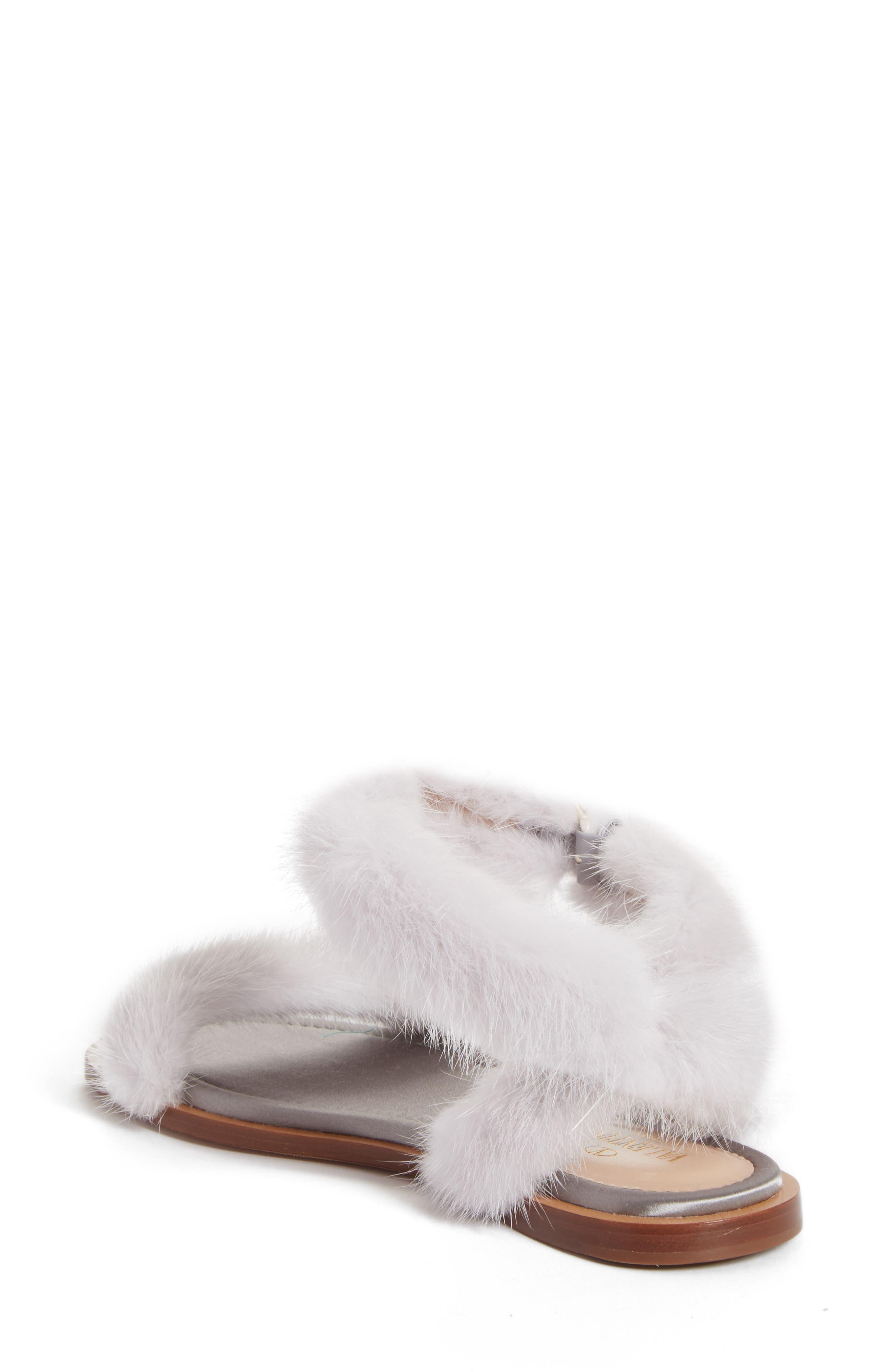 Genuine Mink Fur Sandal,                             Alternate thumbnail 2, color,                             030