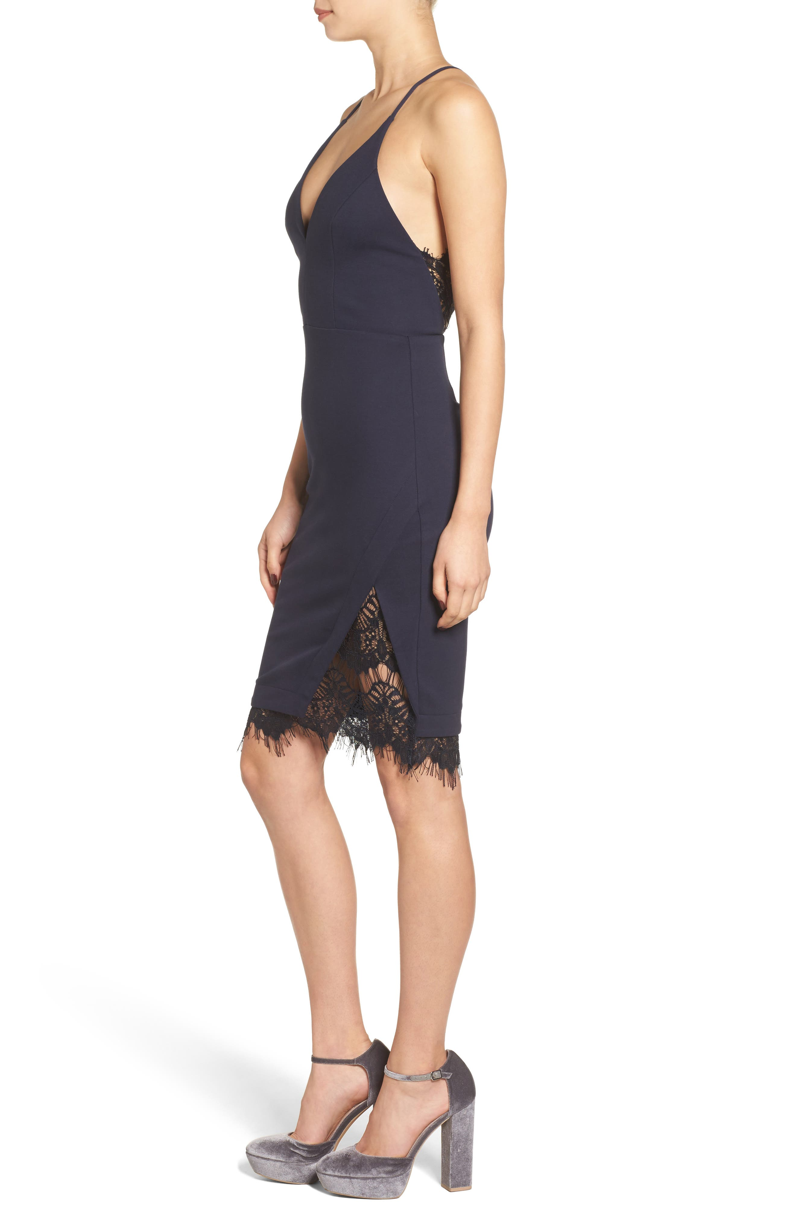 Lace Body-Con Dress,                             Alternate thumbnail 16, color,