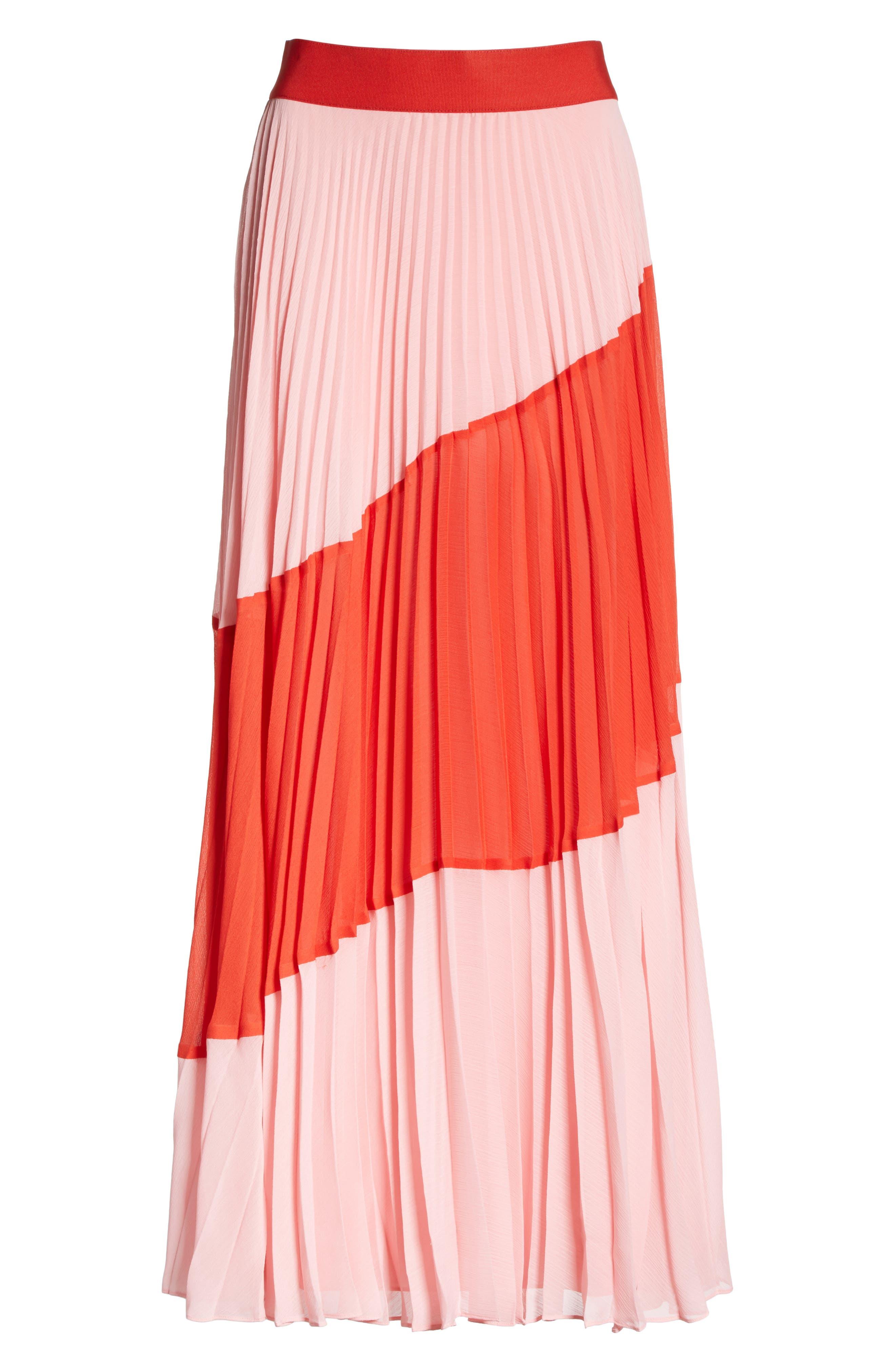 Tavi Colorblock Maxi Skirt,                             Alternate thumbnail 6, color,                             615