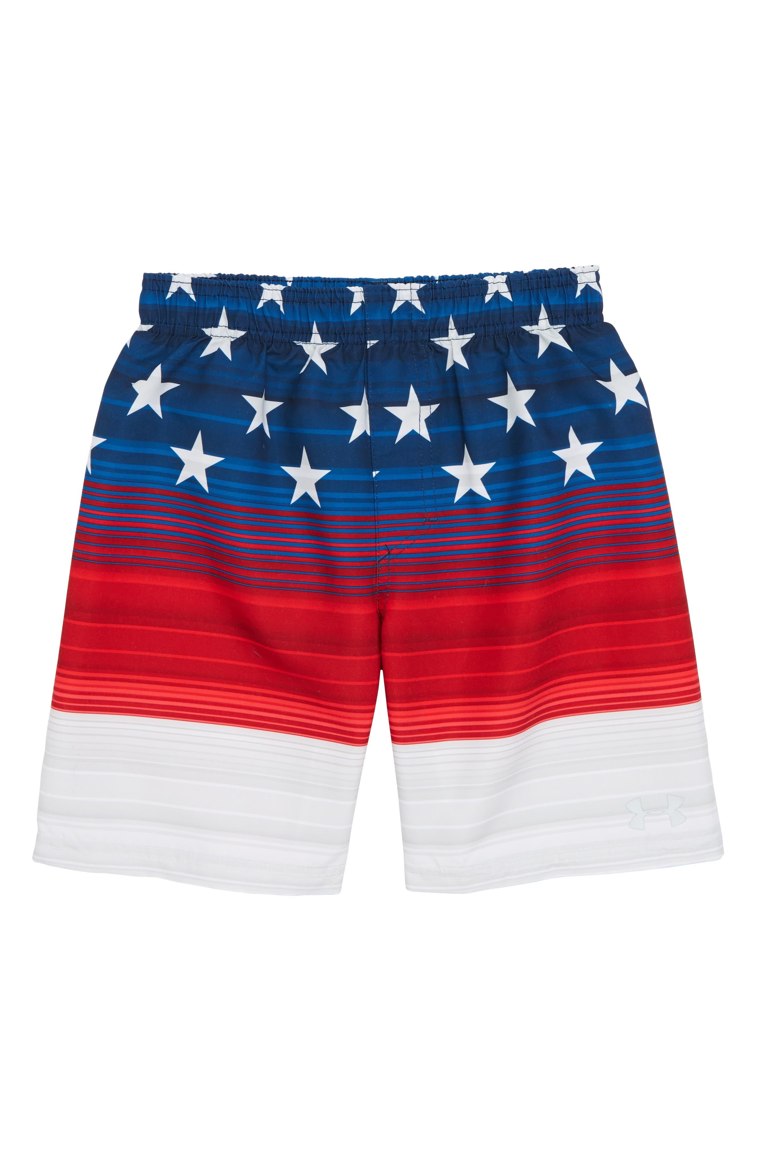 Americana Stripe Volley Shorts,                             Main thumbnail 1, color,