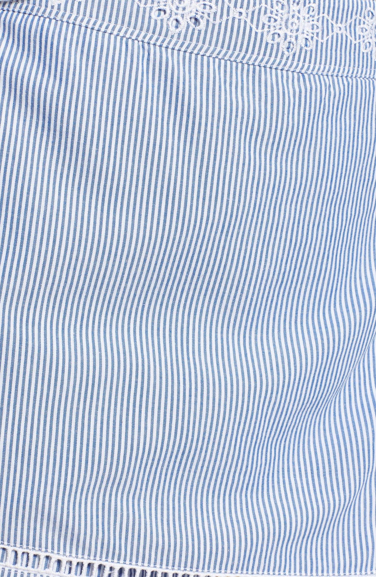 Sandbar Stripe Embroidered Skort,                             Alternate thumbnail 5, color,                             461