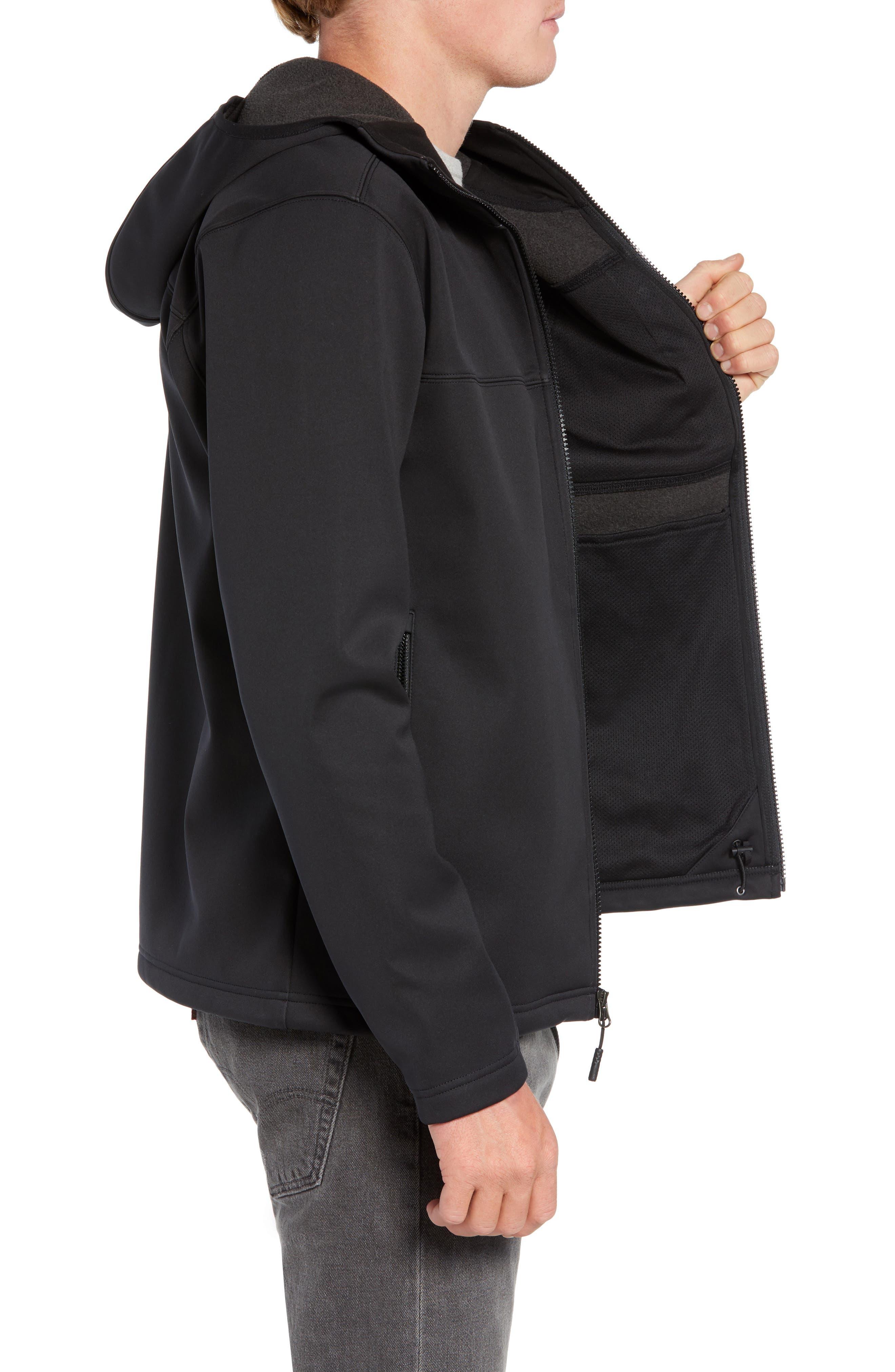 North Face Apex Risor Hooded Jacket,                             Alternate thumbnail 3, color,                             TNF BLACK/ TNF BLACK