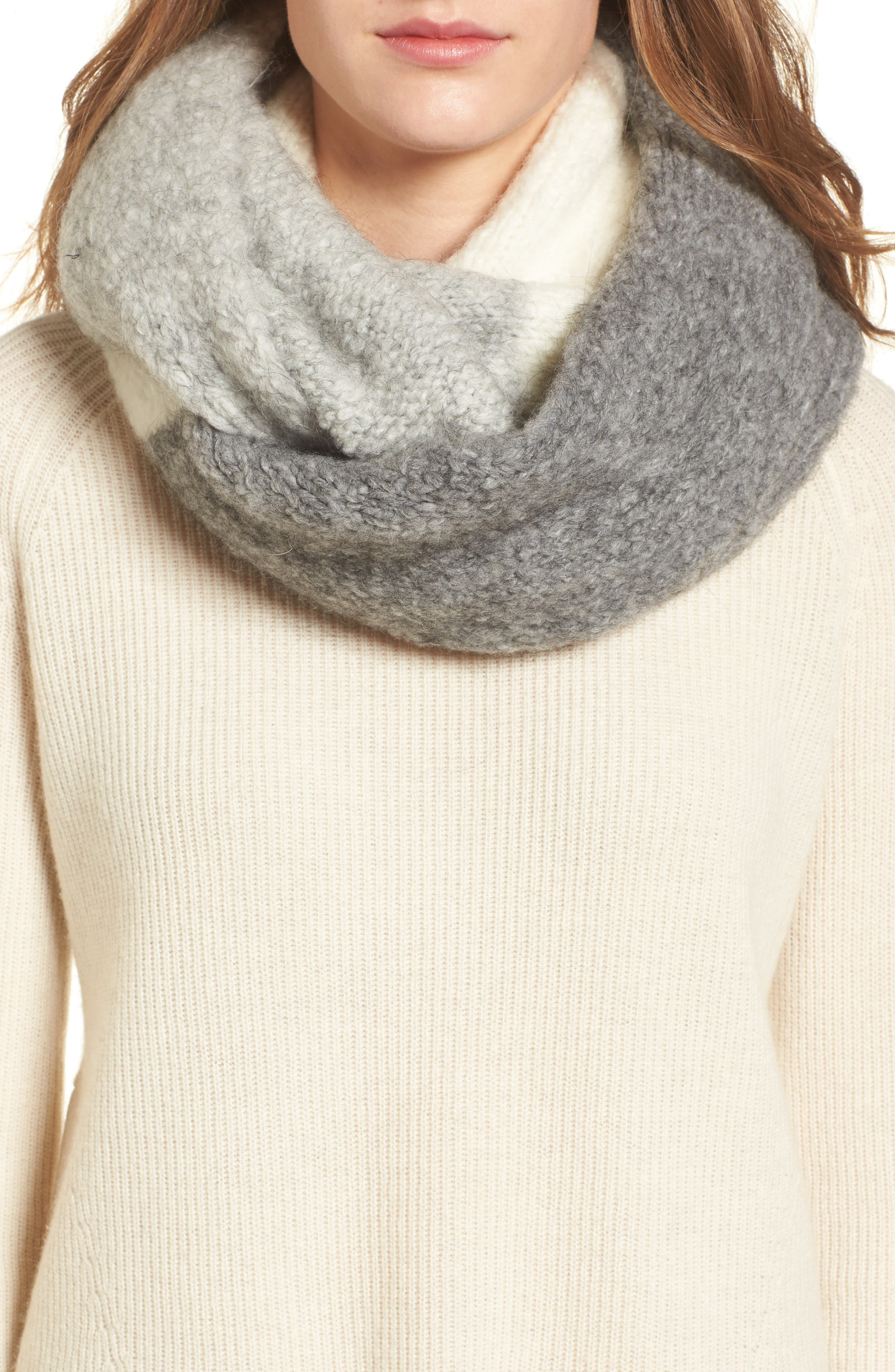 Lofty Tricolor Infinity Scarf,                             Main thumbnail 1, color,