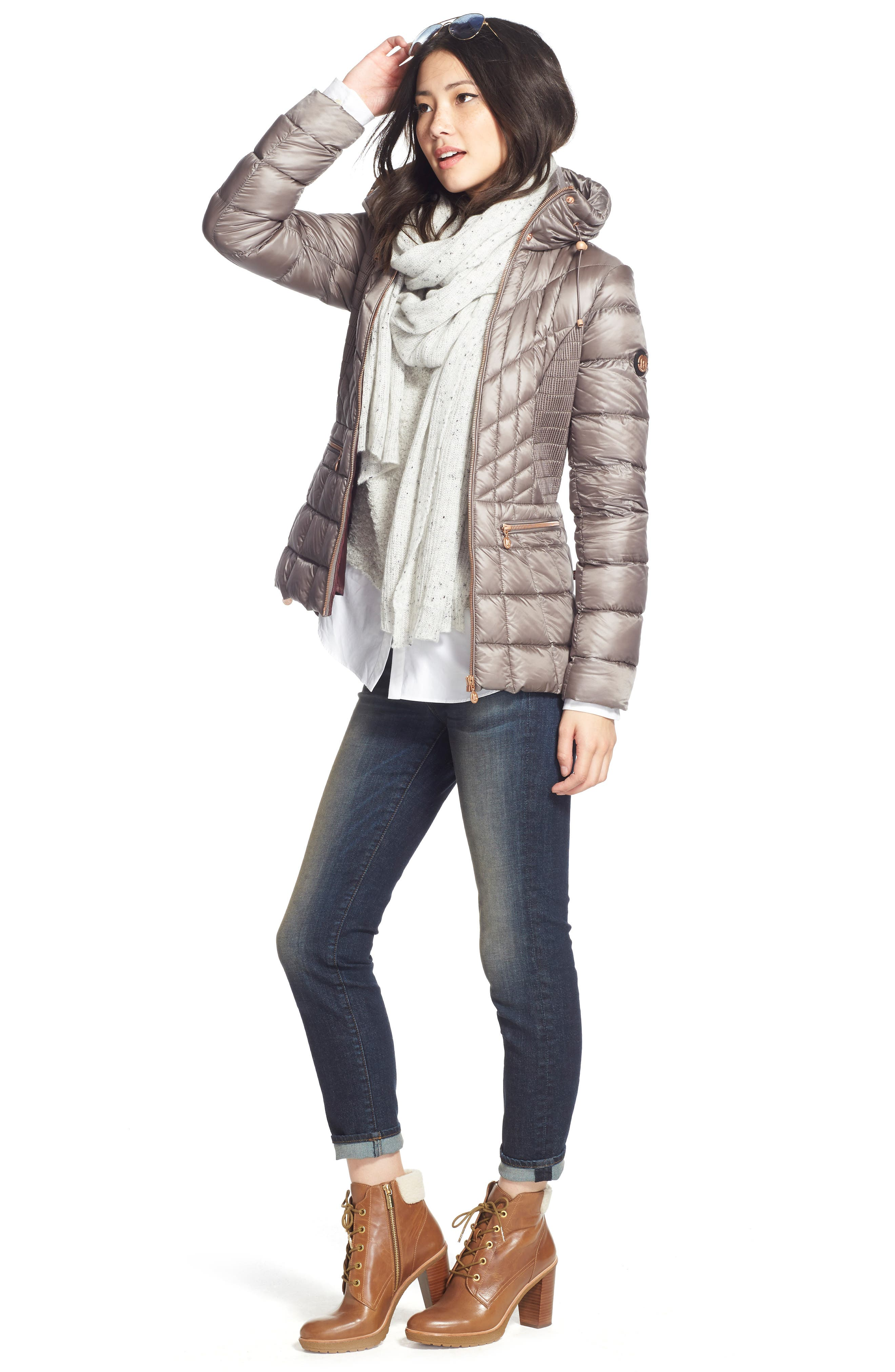 Packable Jacket with Down & PrimaLoft<sup>®</sup> Fill,                             Alternate thumbnail 3, color,                             095