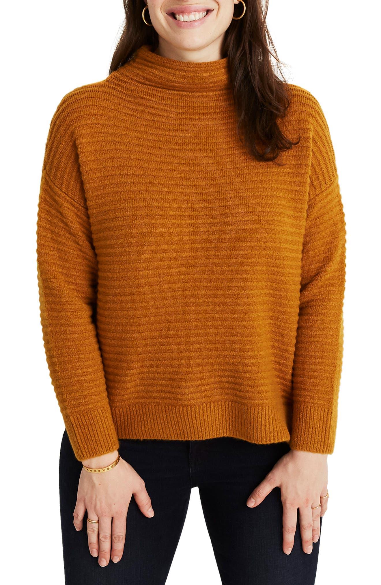 Belmont Mock Neck Sweater,                             Alternate thumbnail 2, color,                             GOLDEN HARVEST