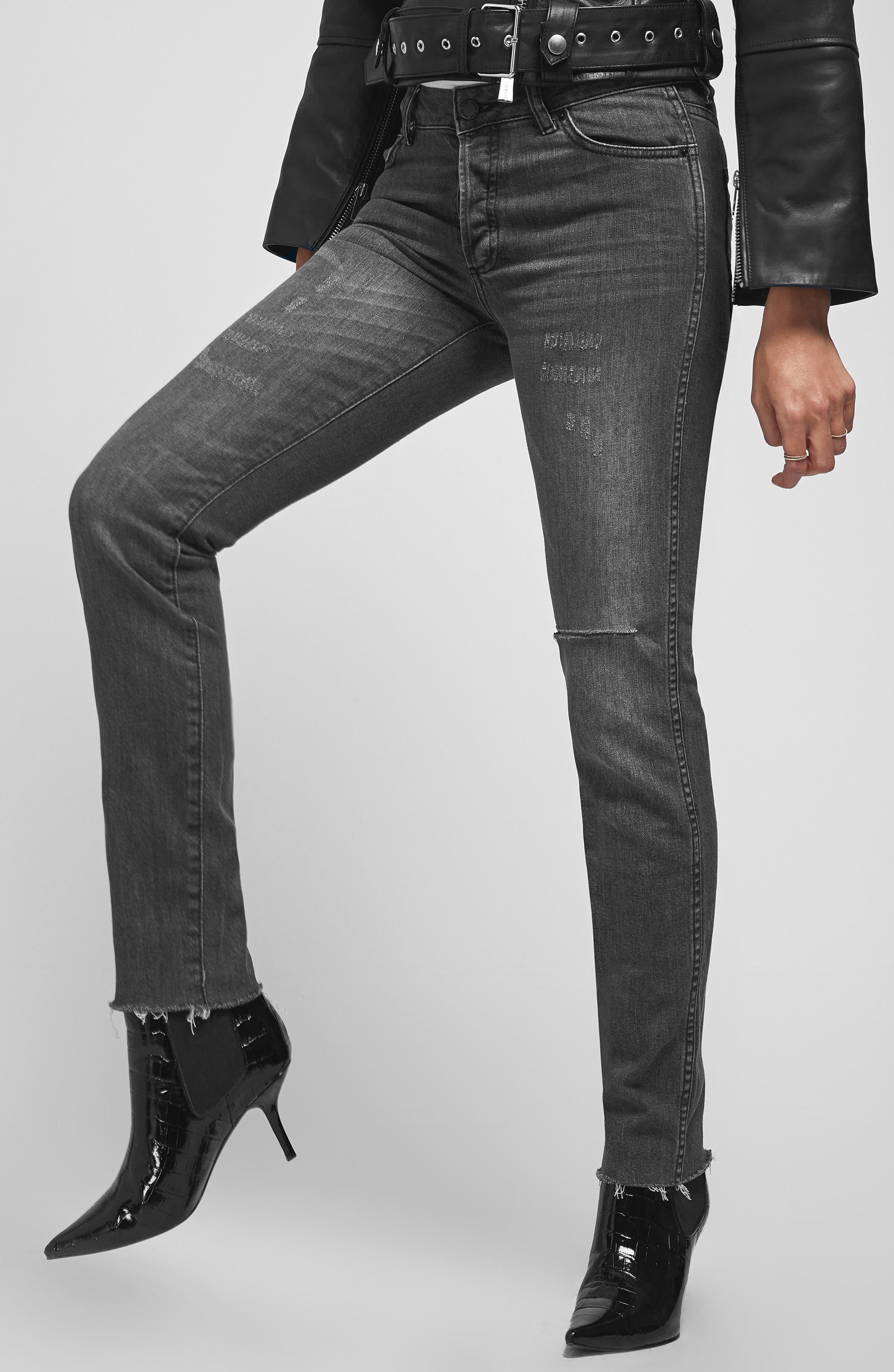 Kara Skinny Jeans,                             Alternate thumbnail 3, color,                             CHARCOAL