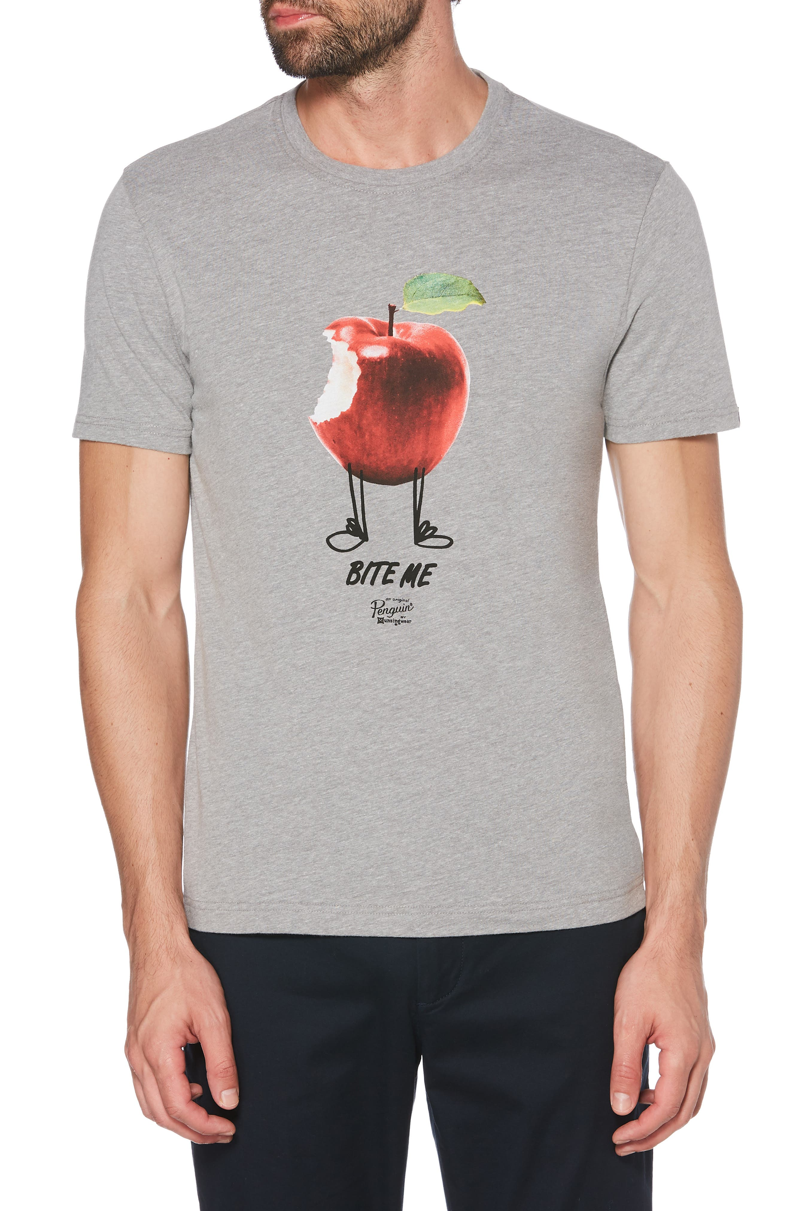 Bite Me Graphic T-Shirt,                         Main,                         color, ATHLETIC GREY HEATHER