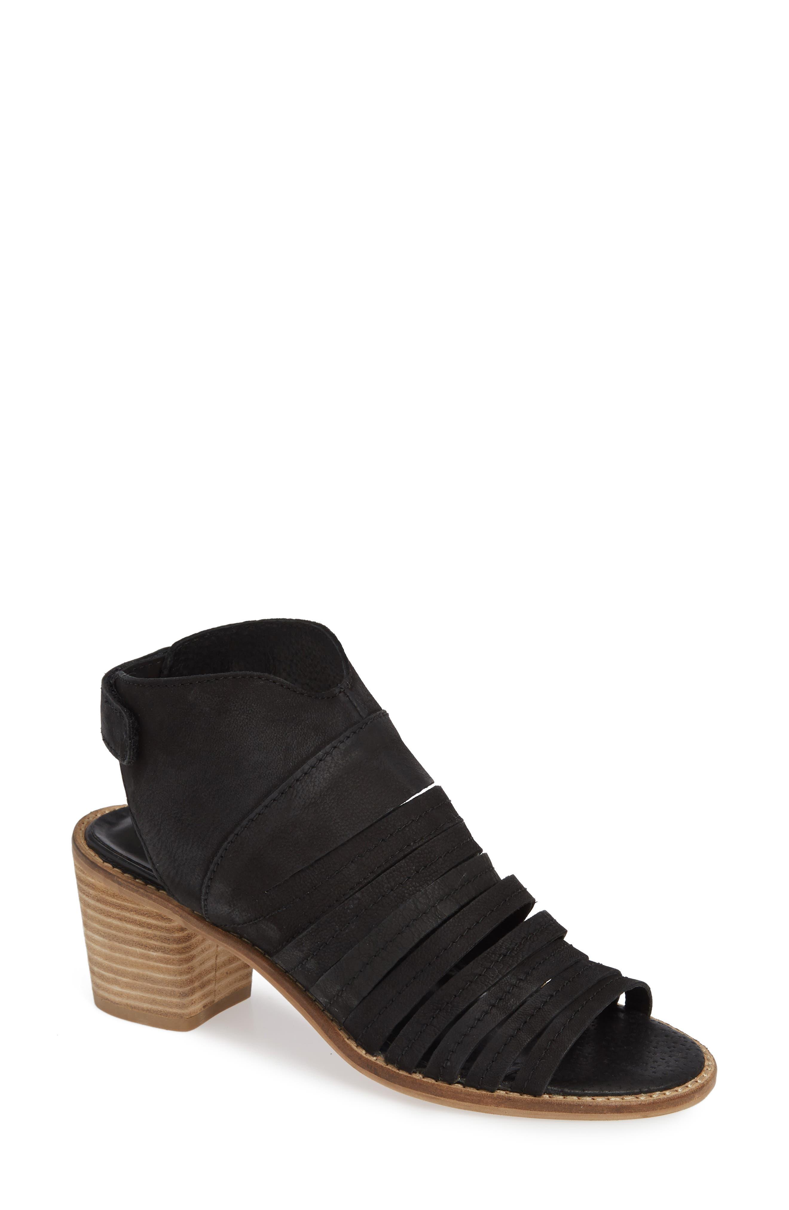 Ainsworth Sandal,                         Main,                         color, BLACK LEATHER