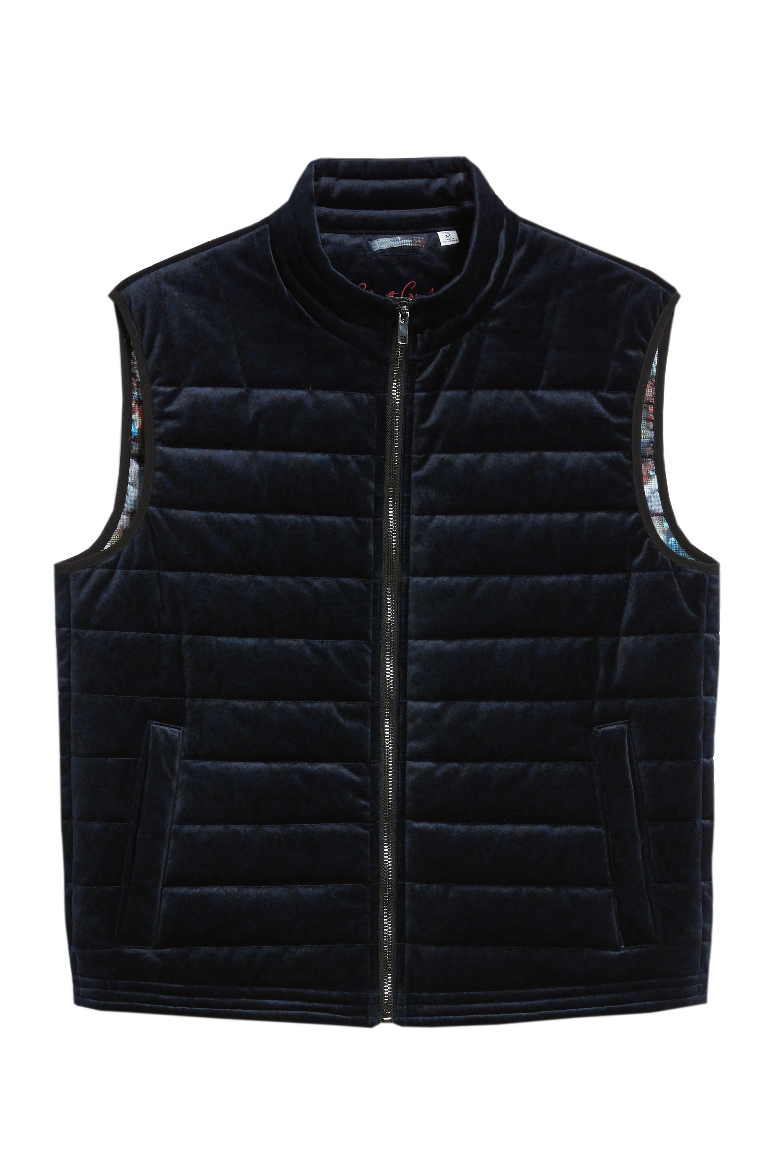 Guiffery Classic Fit Quilted Vest,                             Alternate thumbnail 5, color,                             NAVY