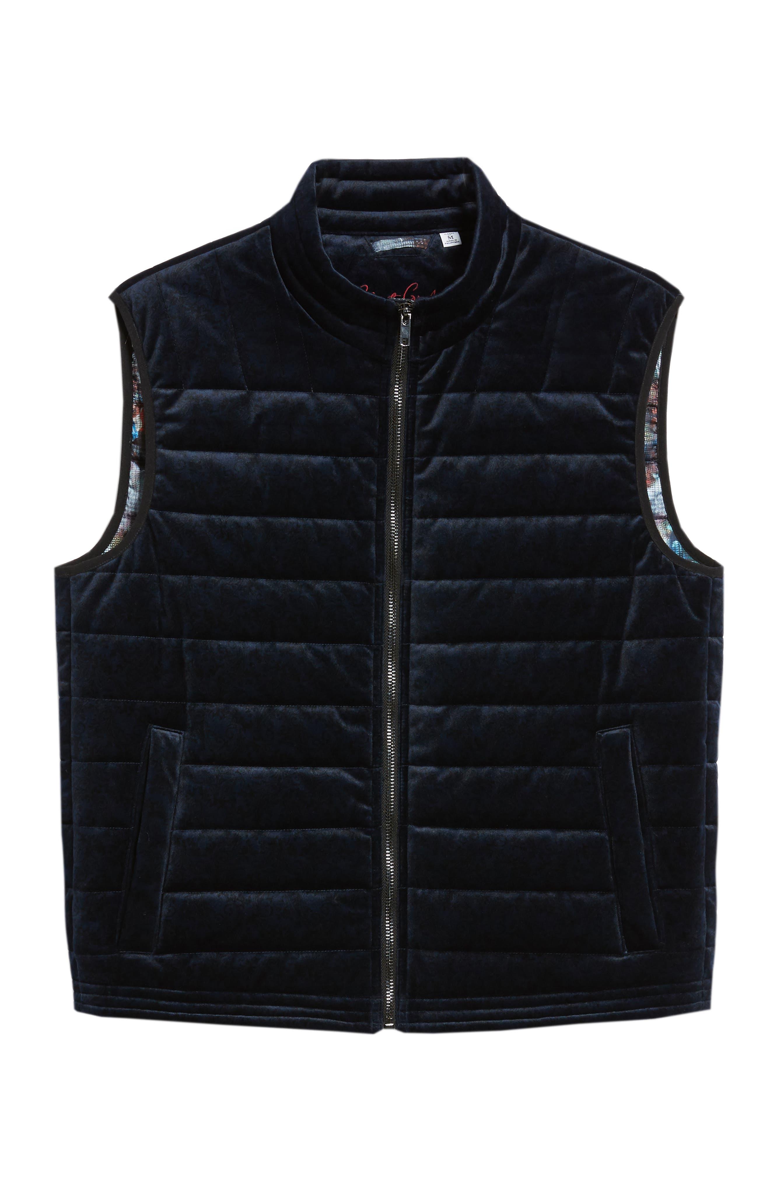 ROBERT GRAHAM,                             Guiffery Classic Fit Quilted Vest,                             Alternate thumbnail 5, color,                             410