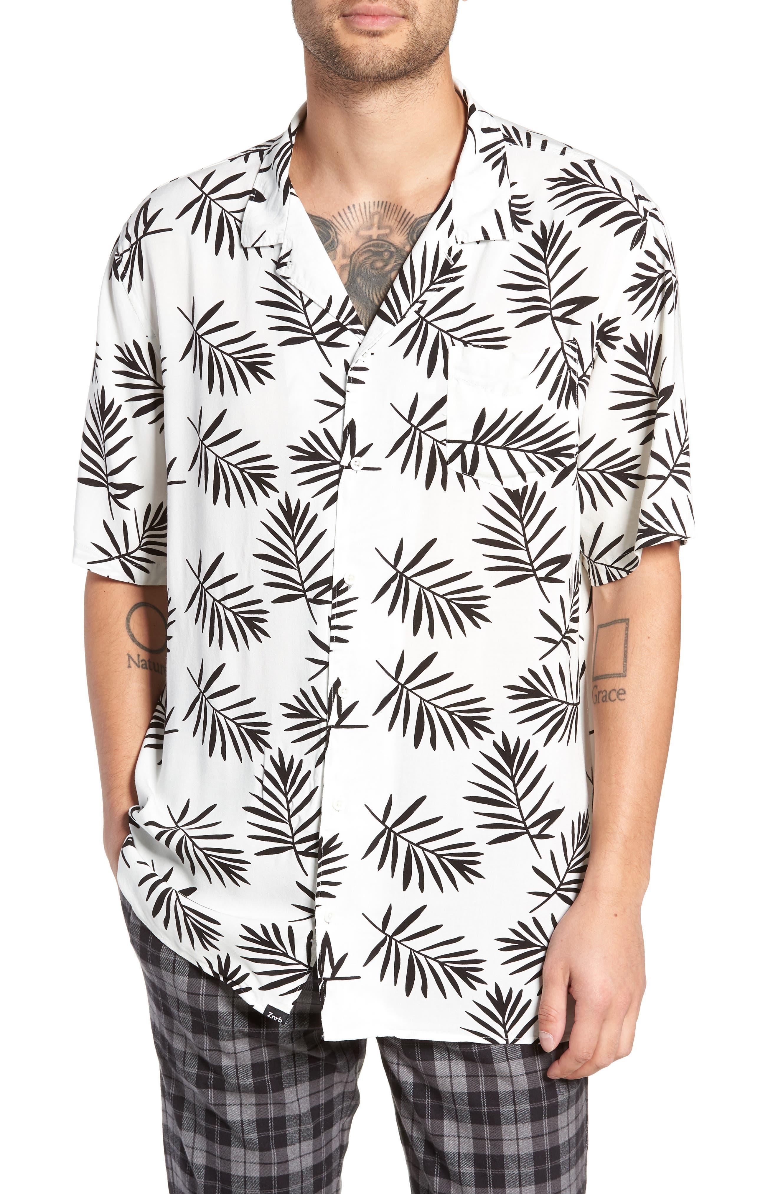 ZANEROBE Fern Camp Shirt, Main, color, 100
