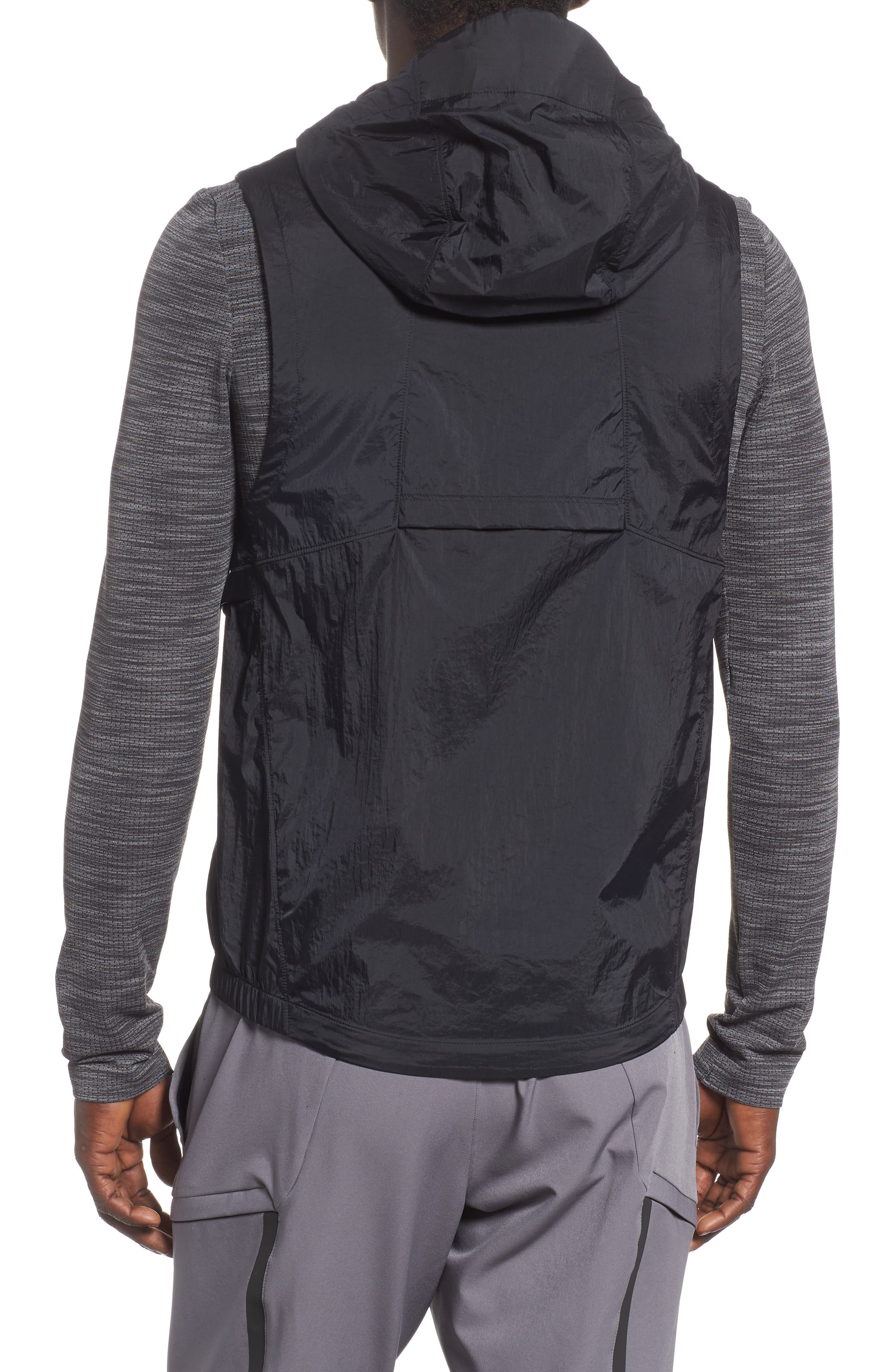 Perpetual 18 Fitted Hooded Vest,                             Alternate thumbnail 2, color,                             BLACK