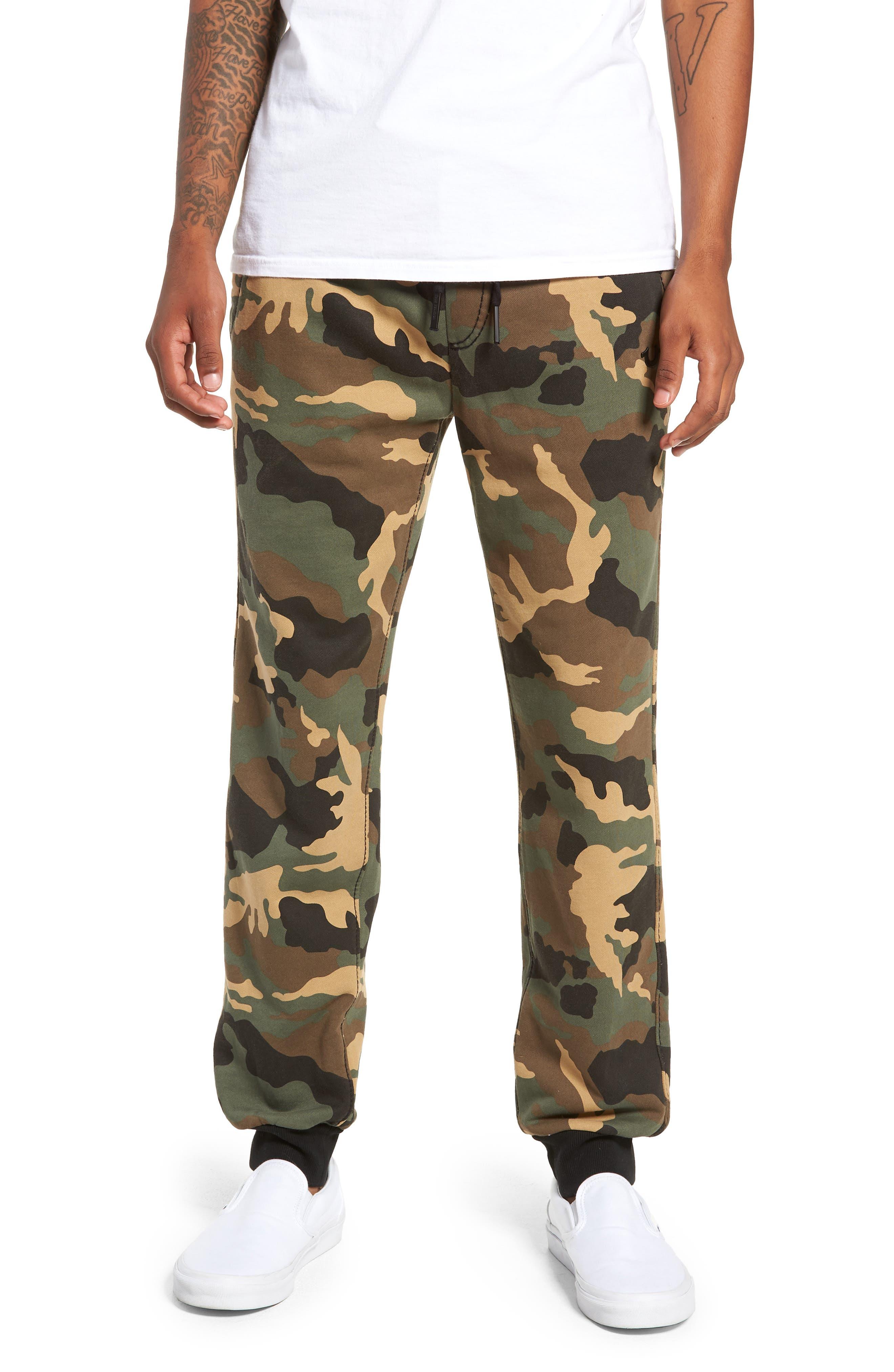 True Religion Big T Slim Camo Sweatpants,                         Main,                         color, DERRINGER CAMO
