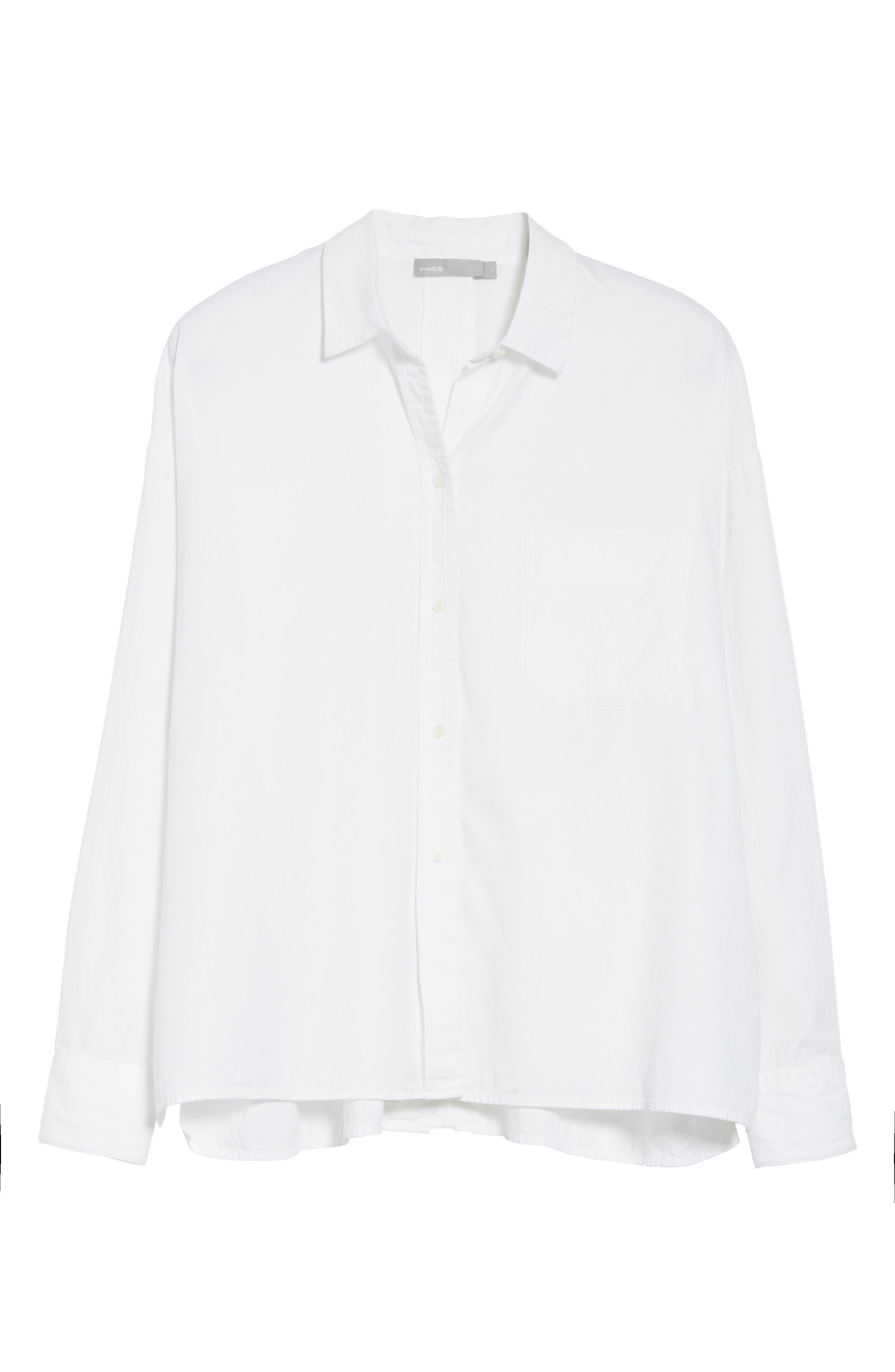 Single Pocket Cotton & Silk Shirt,                             Alternate thumbnail 6, color,                             100