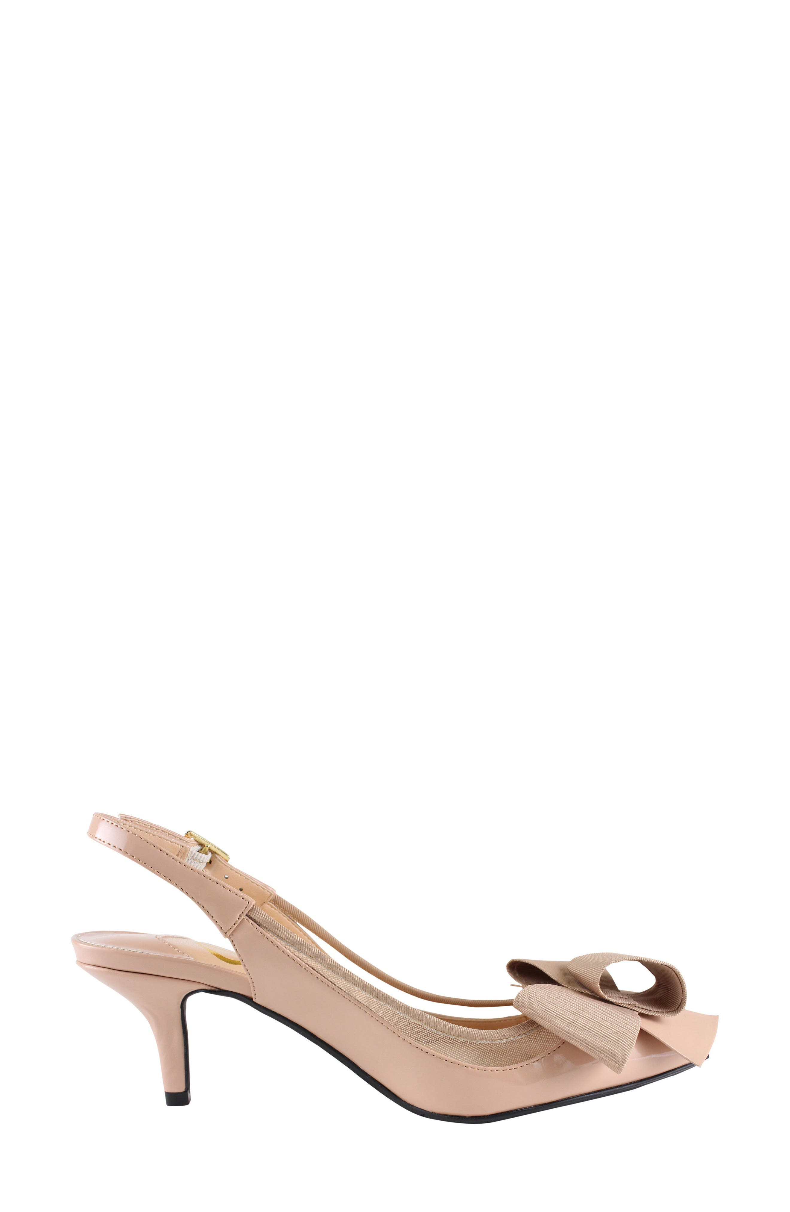 'Garbi' Pointy Toe Bow Pump,                             Alternate thumbnail 3, color,                             260