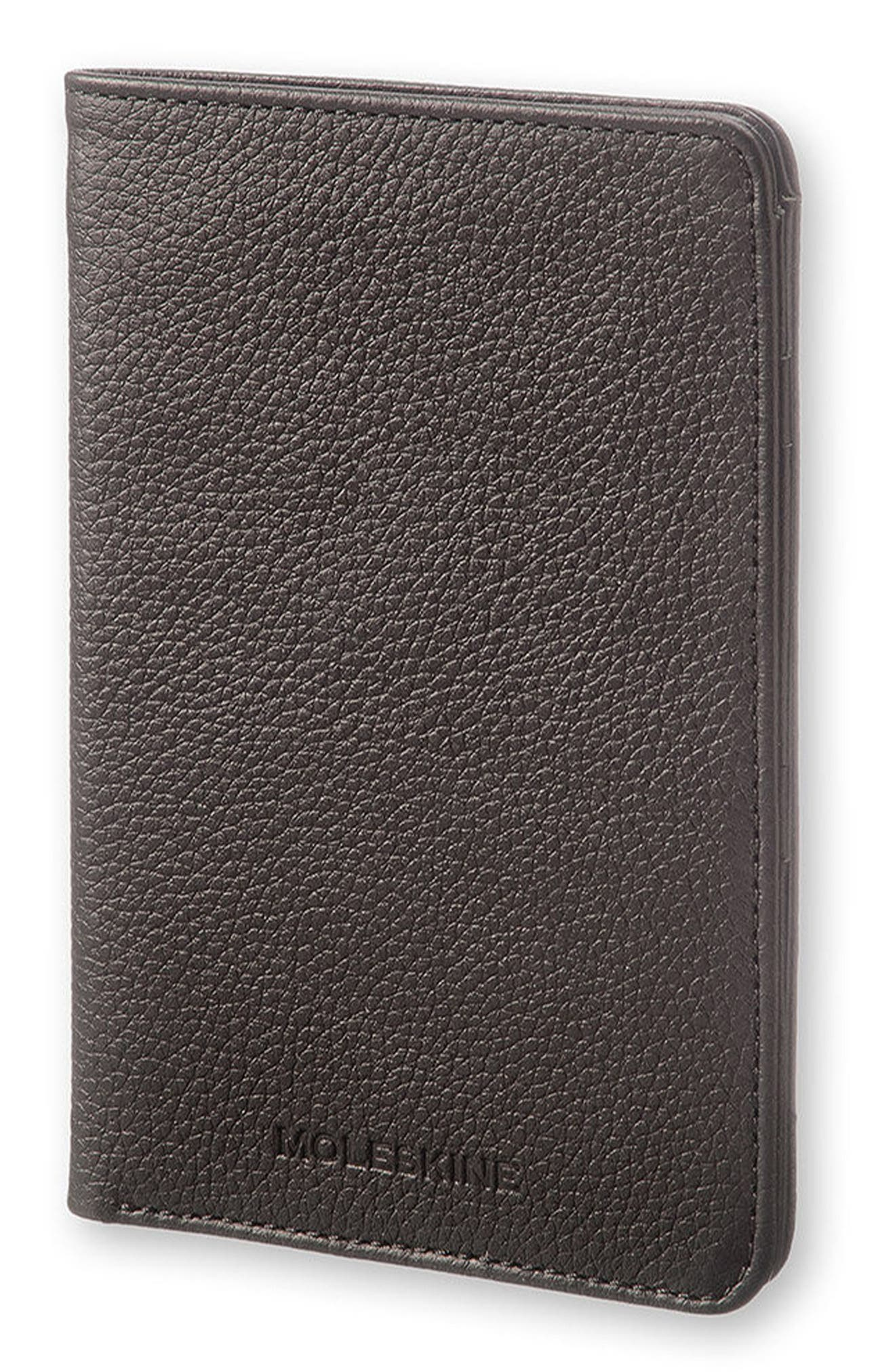 Lineage Leather Passport Wallet,                         Main,                         color, 001