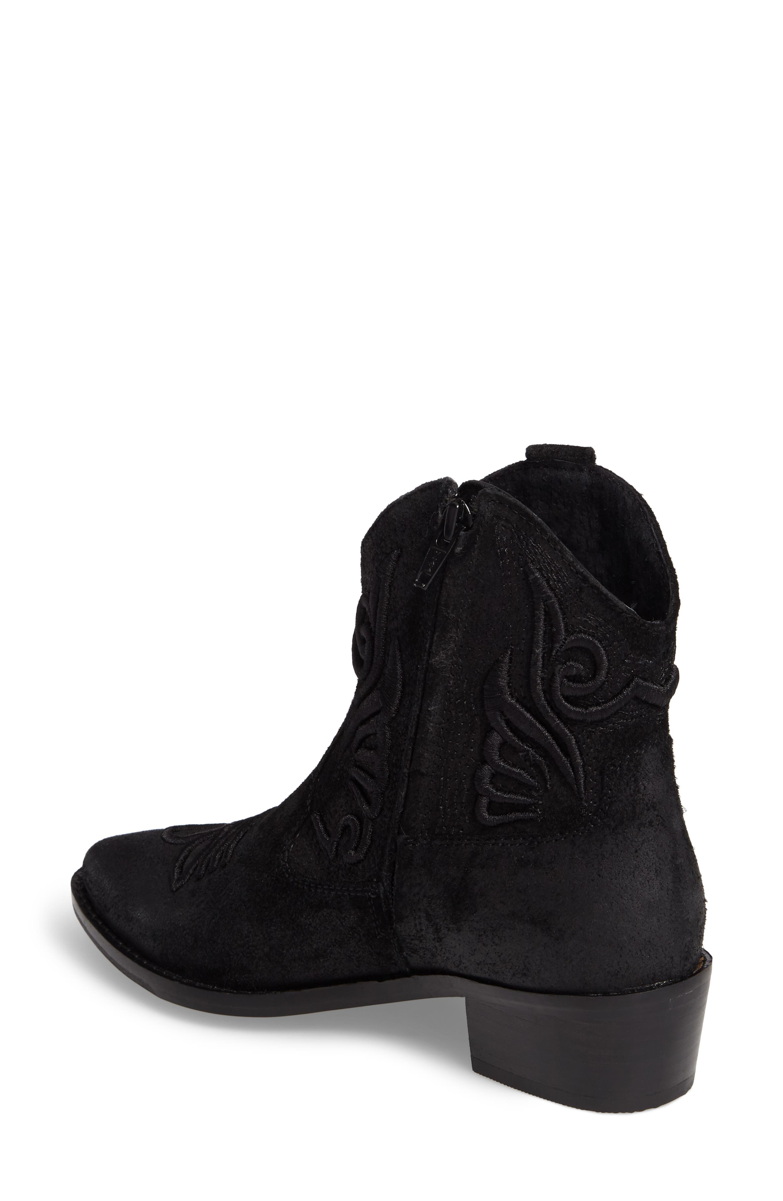 Apple Crumble Embroidered Bootie,                             Alternate thumbnail 2, color,                             001