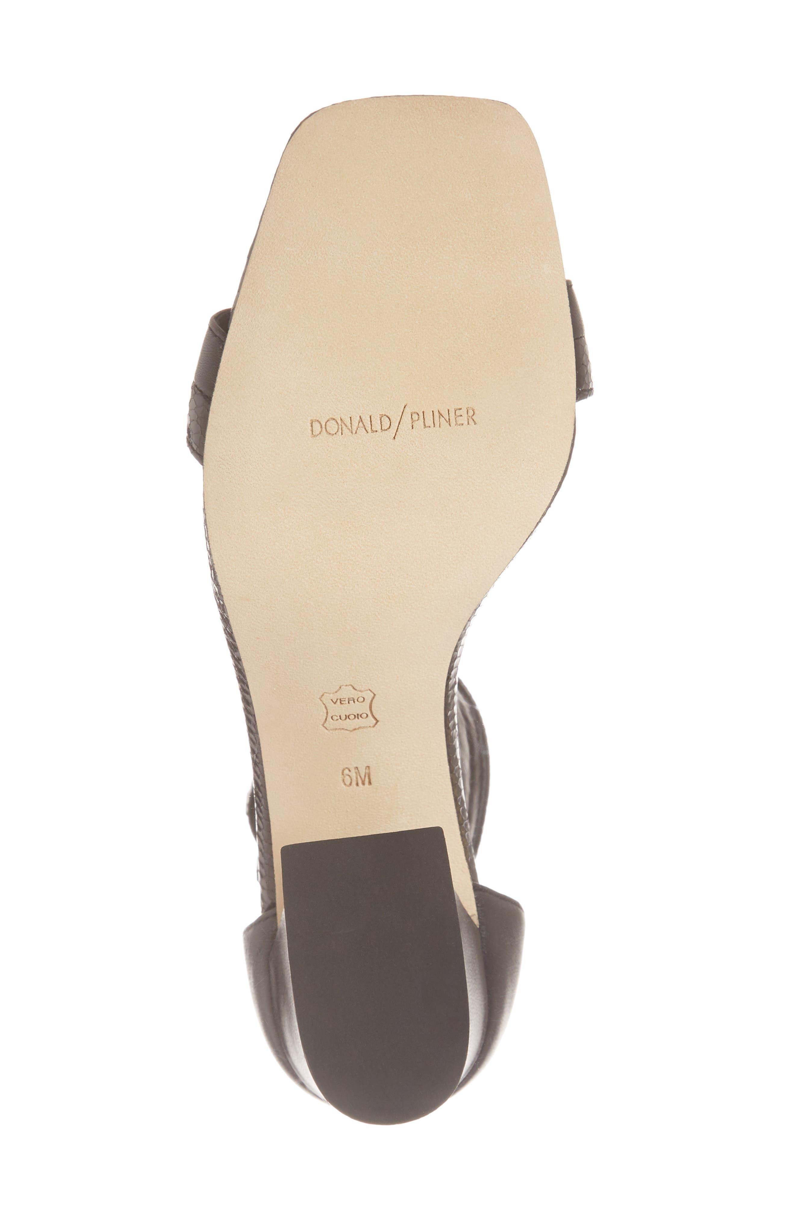 Watson Ankle Strap Sandal,                             Alternate thumbnail 6, color,                             BLACK PRINTED LEATHER