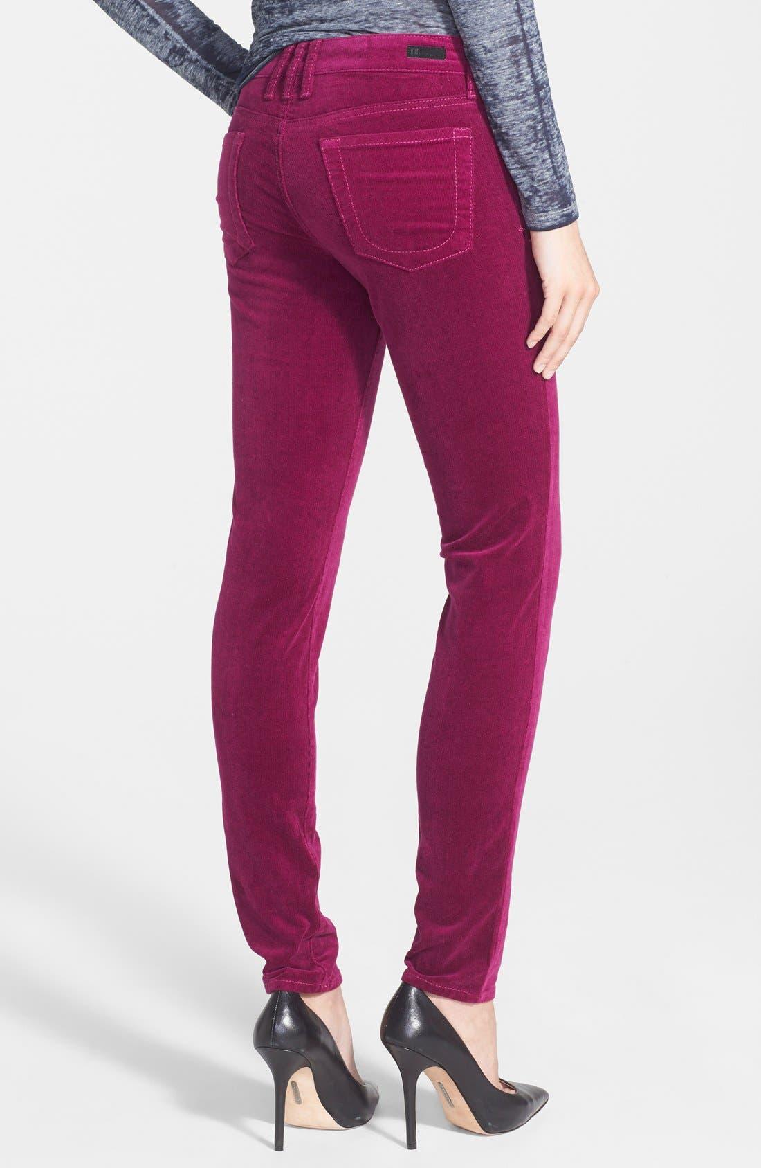 'Diana' Stretch Corduroy Skinny Pants,                             Alternate thumbnail 97, color,