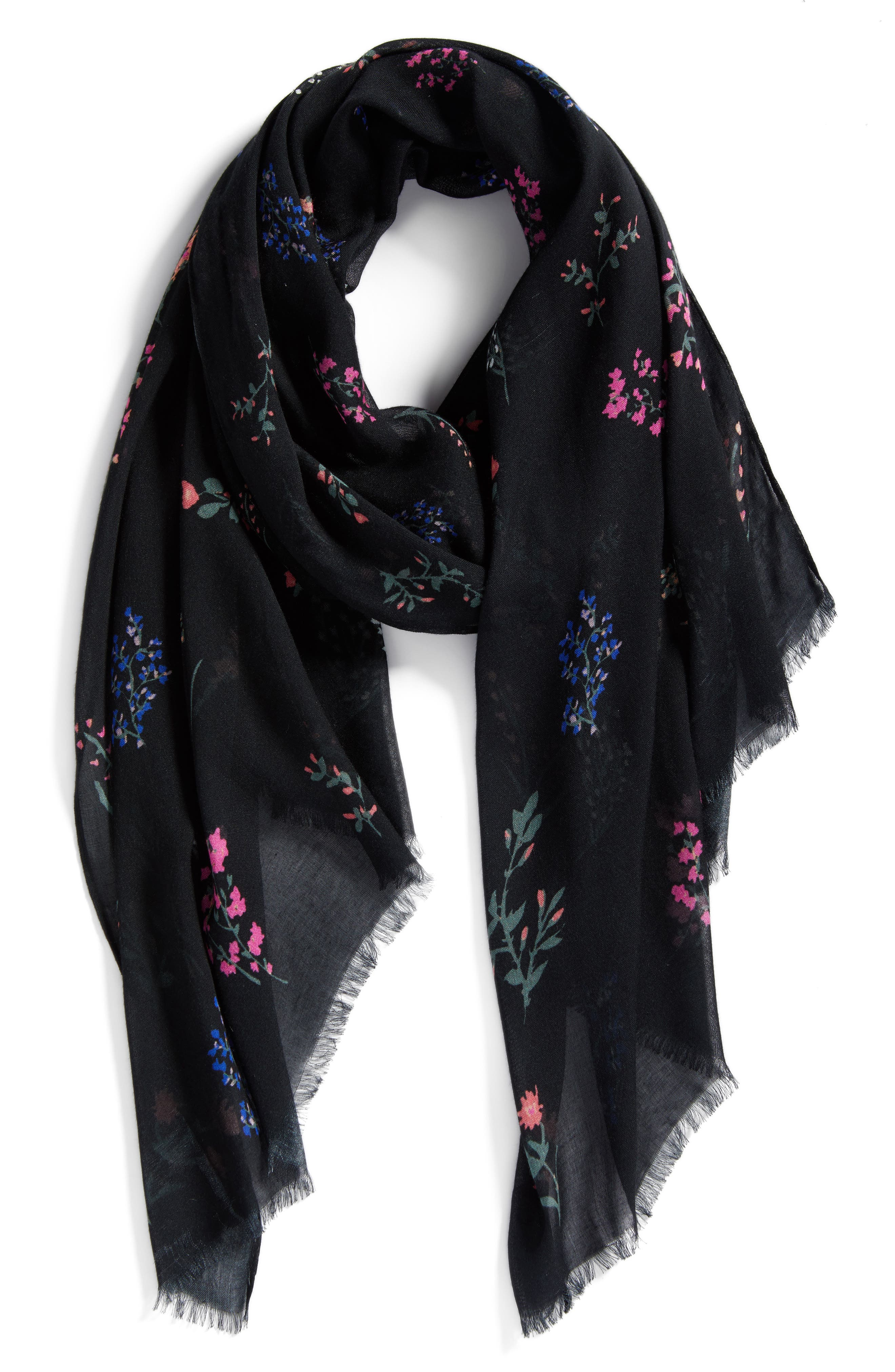 Pressed Flowers Scarf,                             Alternate thumbnail 2, color,                             001