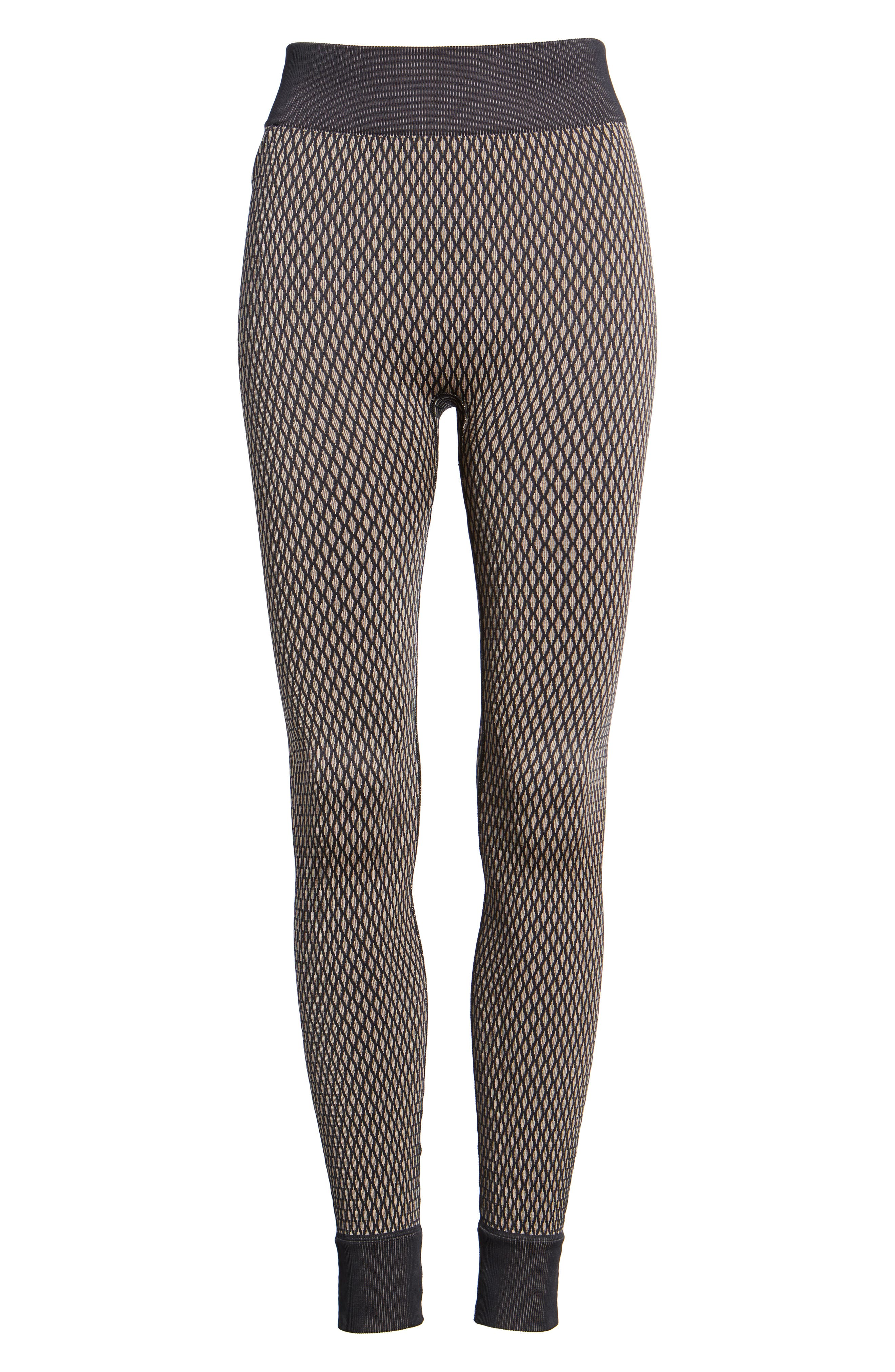 Fishnet Seamless Leggings,                             Alternate thumbnail 7, color,                             001