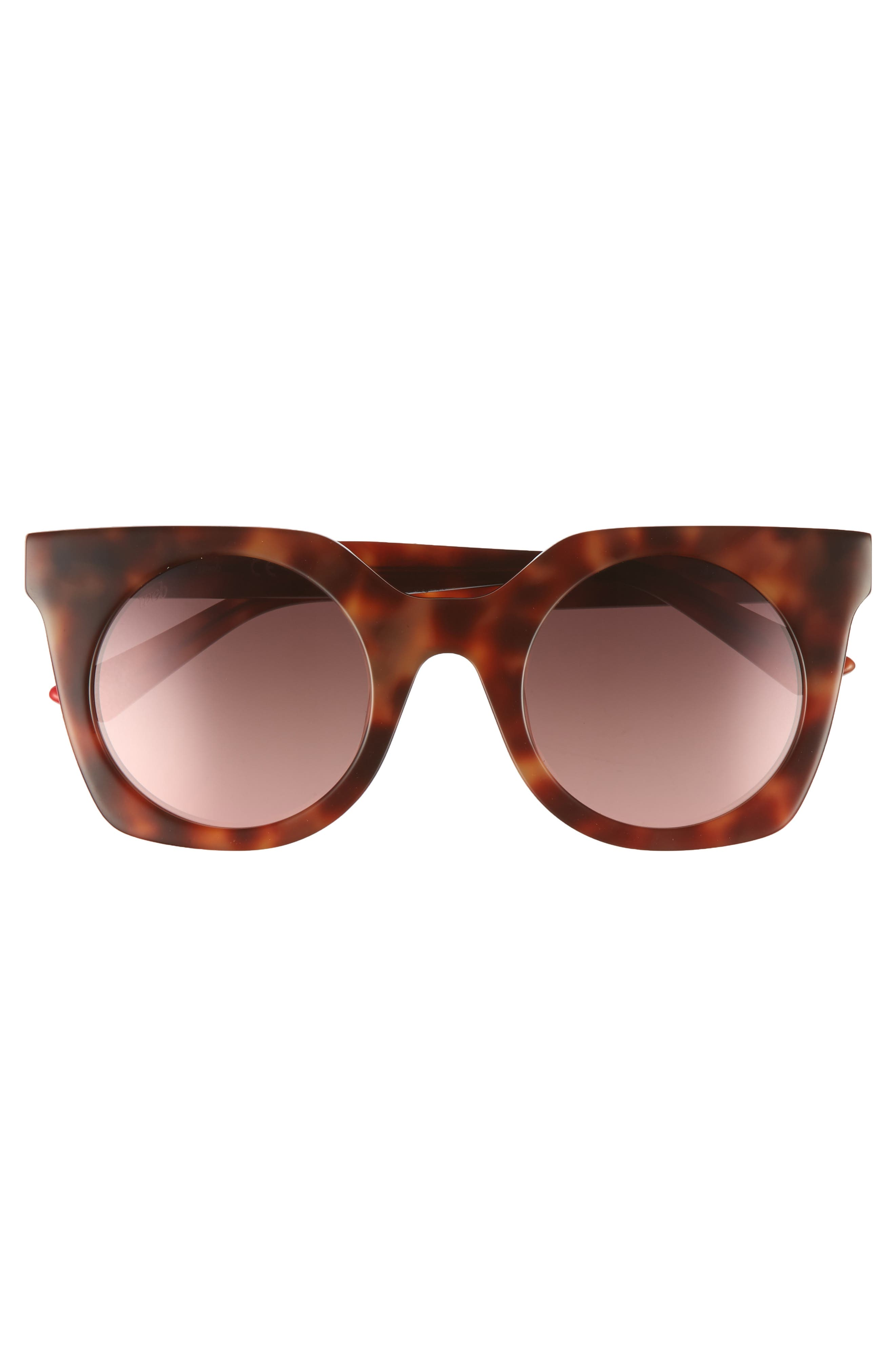 48mm Sunglasses,                             Alternate thumbnail 3, color,                             BLONDE HAVANA/ GRADIENT