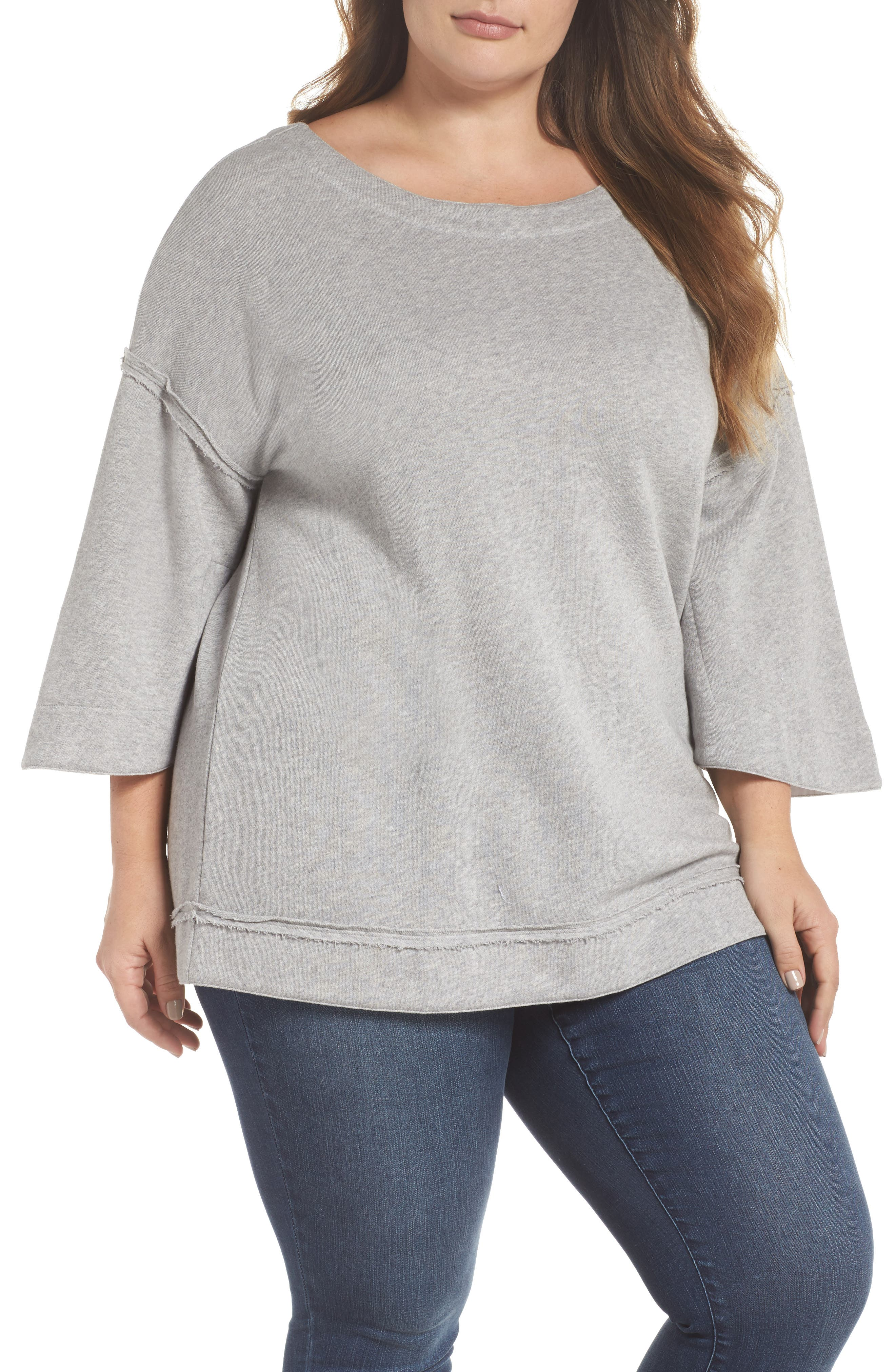 Split Sleeve Sweatshirt,                             Main thumbnail 1, color,