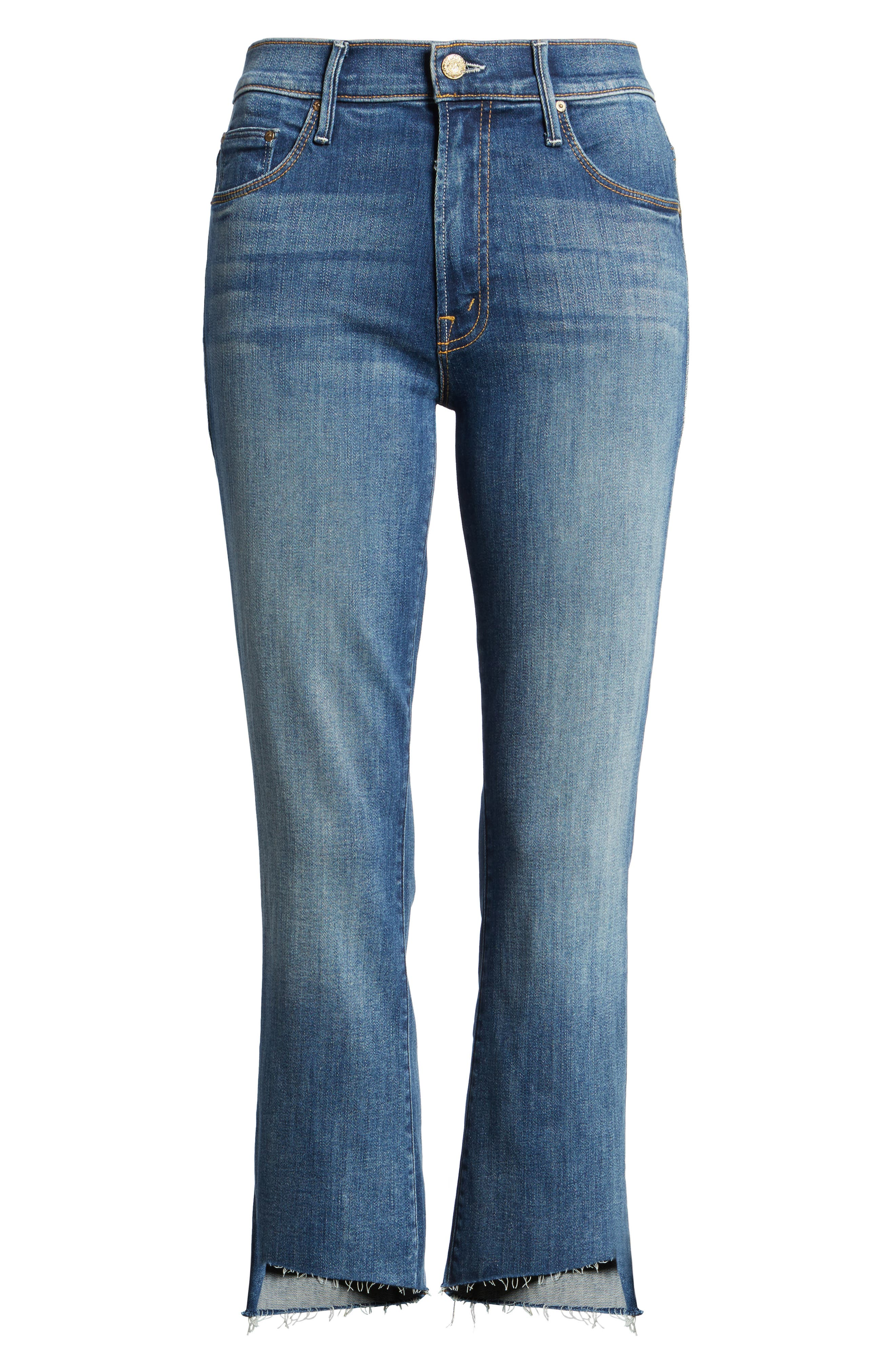 'The Insider' Crop Step Fray Jeans,                         Main,                         color, 420