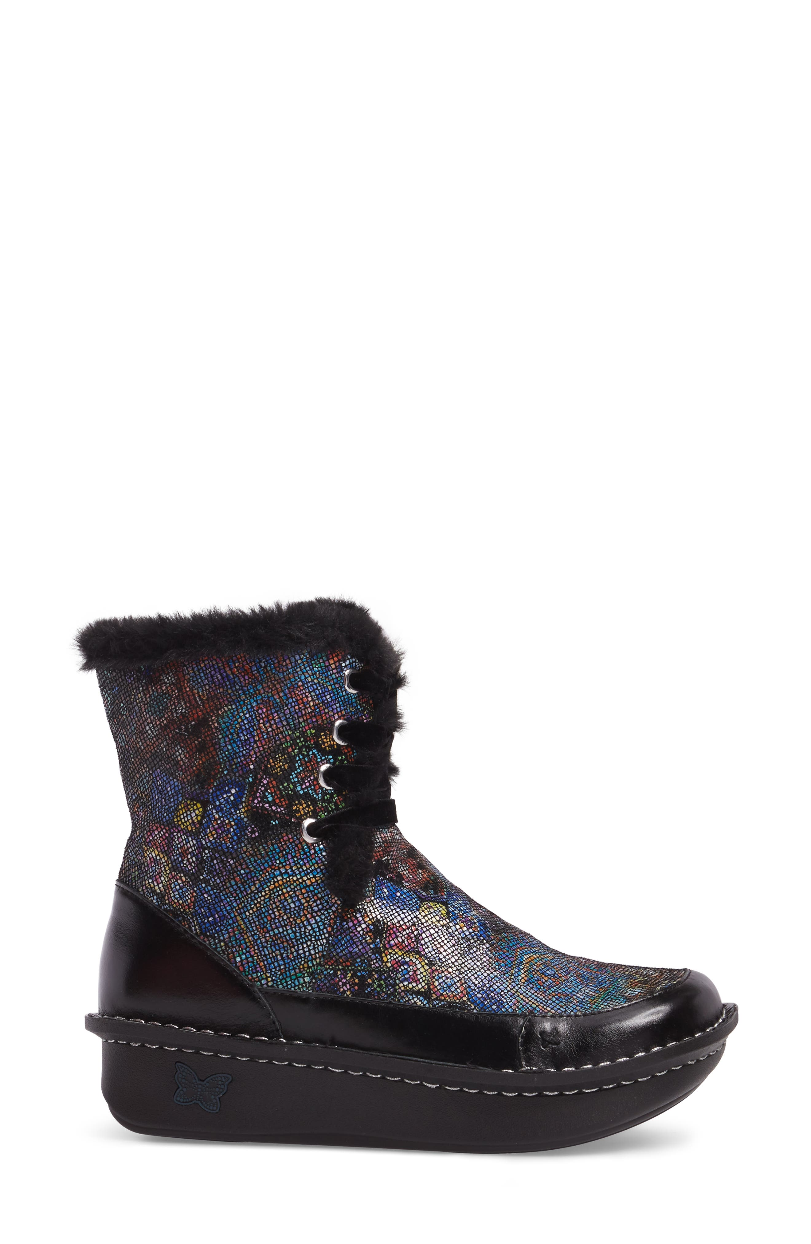 Twisp Lace-Up Boot with Faux Fur Lining,                             Alternate thumbnail 9, color,