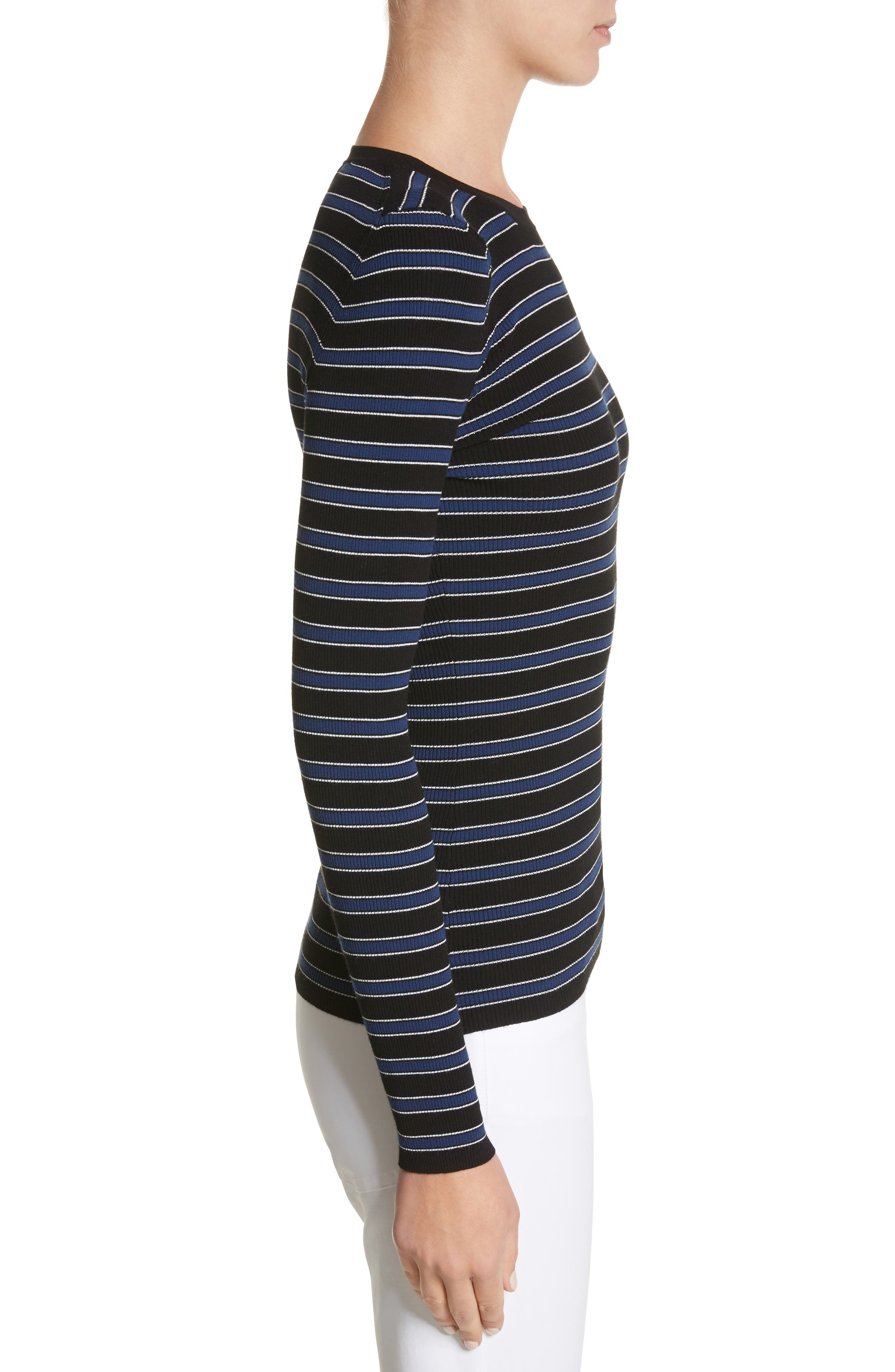 Stripe Top,                             Alternate thumbnail 3, color,