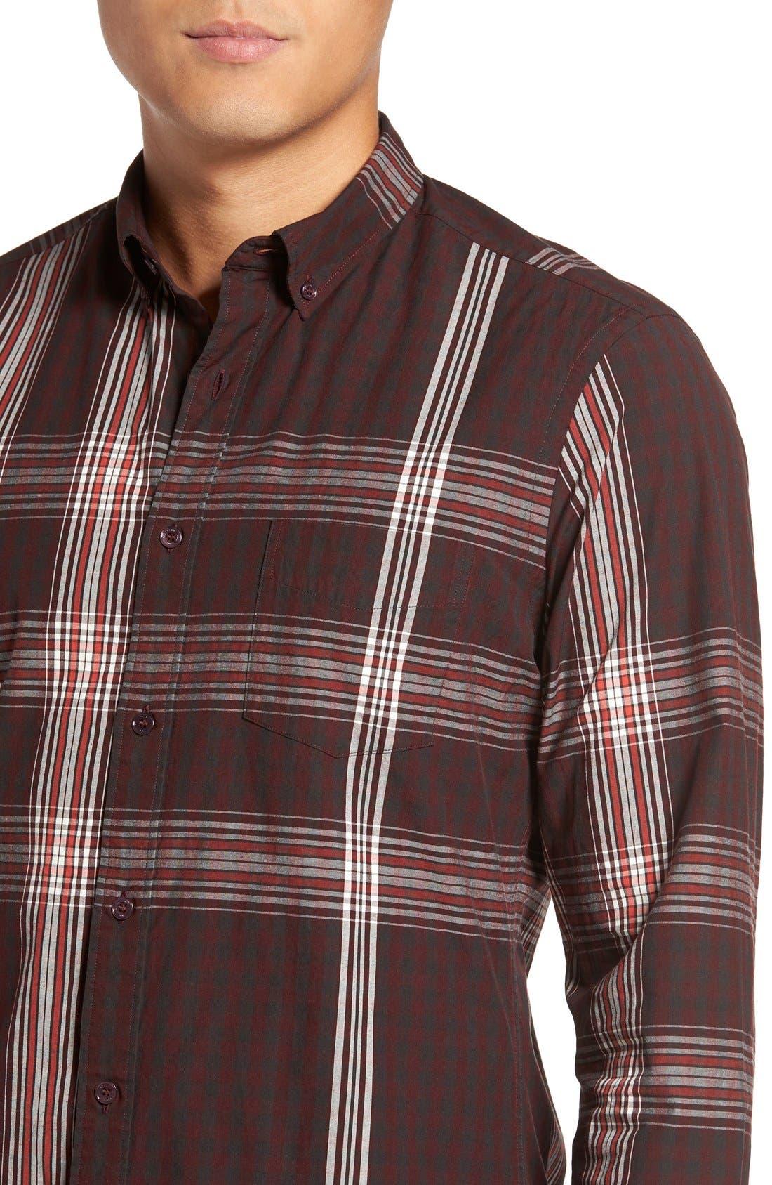 'Brit' Trim Fit Long Sleeve Sport Shirt,                             Alternate thumbnail 2, color,                             543