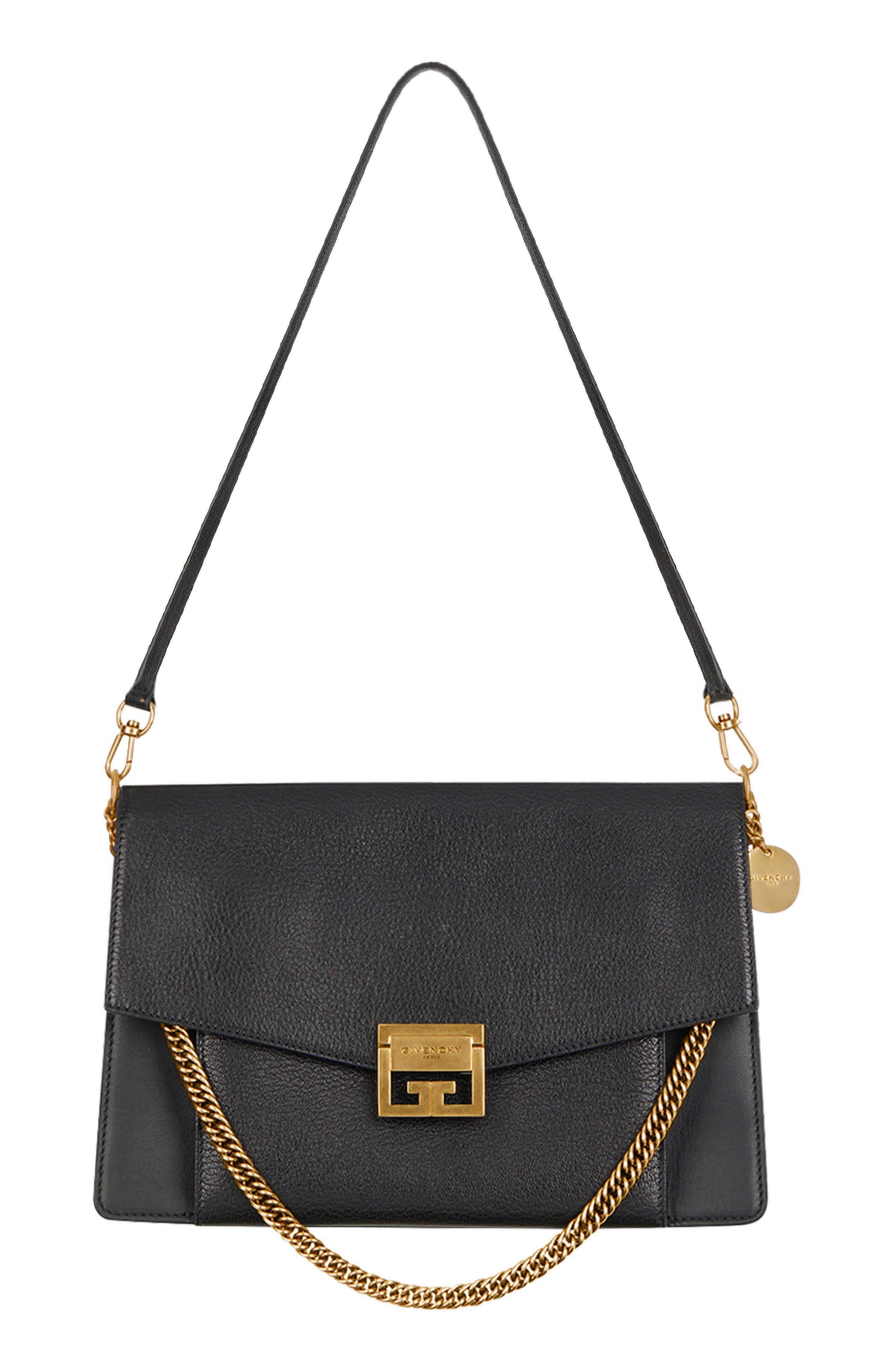 Medium GV3 Leather Crossbody Bag,                             Alternate thumbnail 8, color,                             BLACK/ GREY
