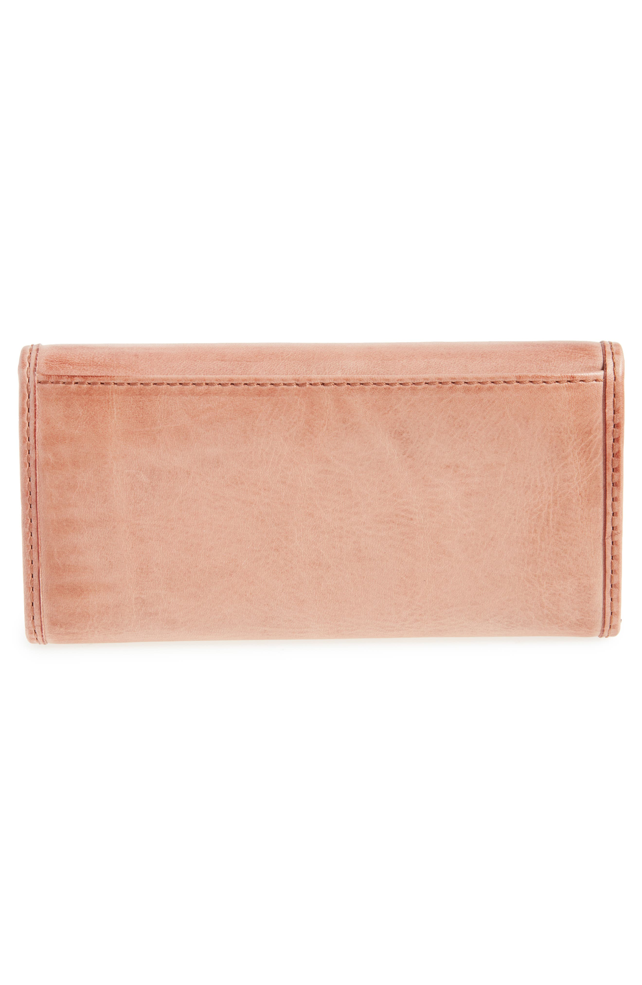 'Melissa' Continental Wallet,                             Alternate thumbnail 3, color,                             DUSTY ROSE