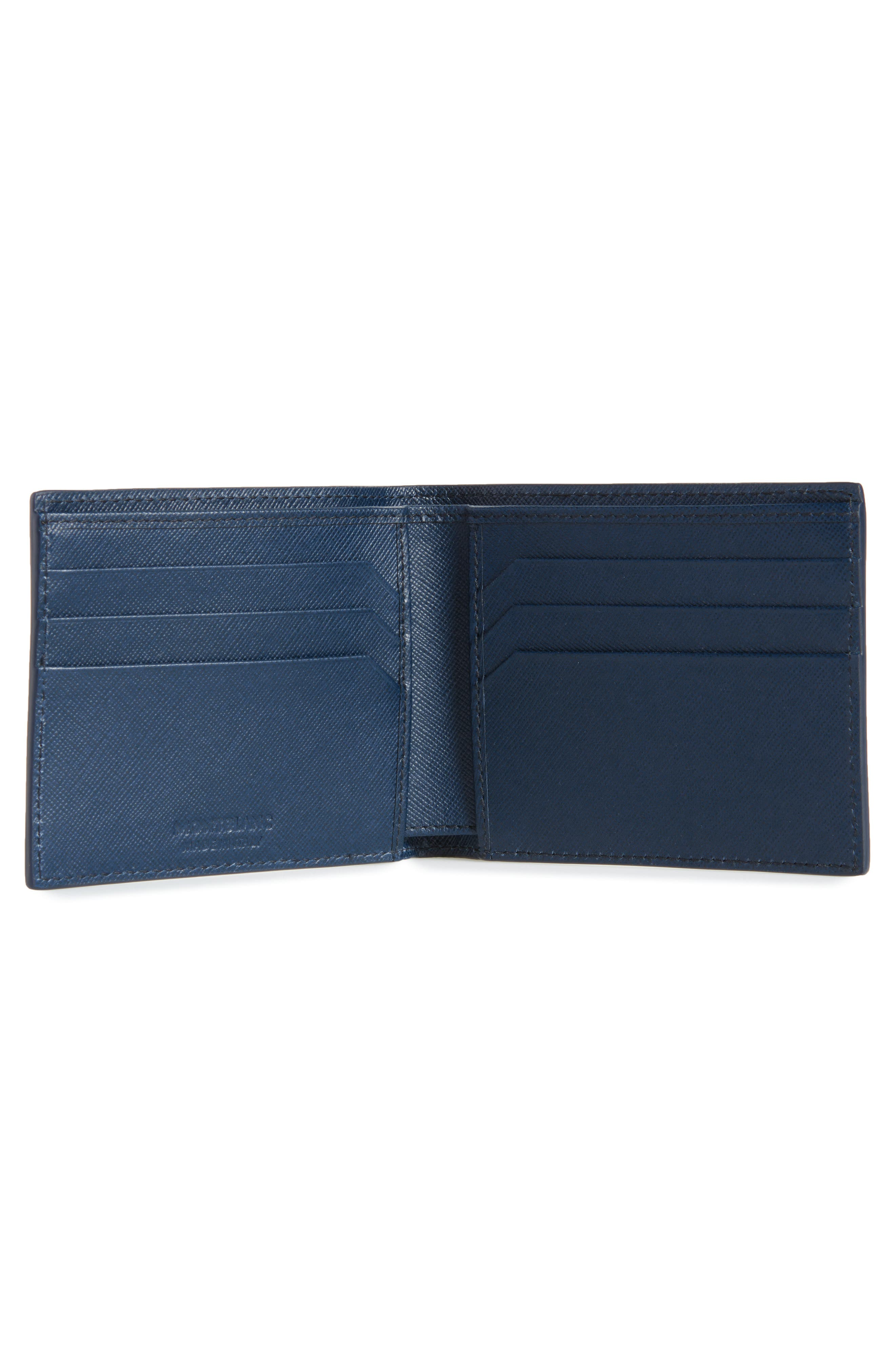 Sartorial Leather Bifold Wallet,                             Alternate thumbnail 4, color,