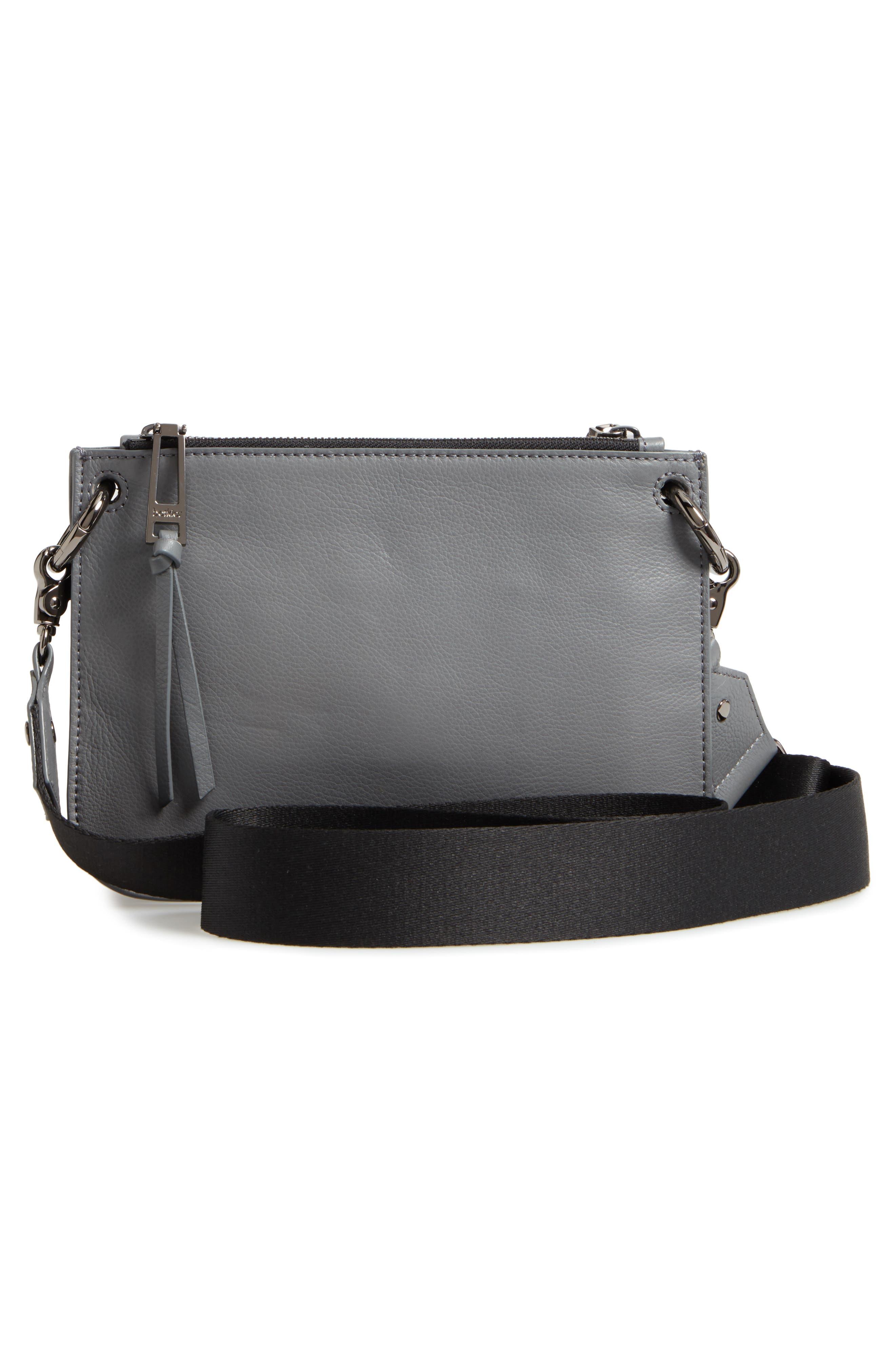 Bleeker Leather Double Shoulder Bag,                             Alternate thumbnail 15, color,