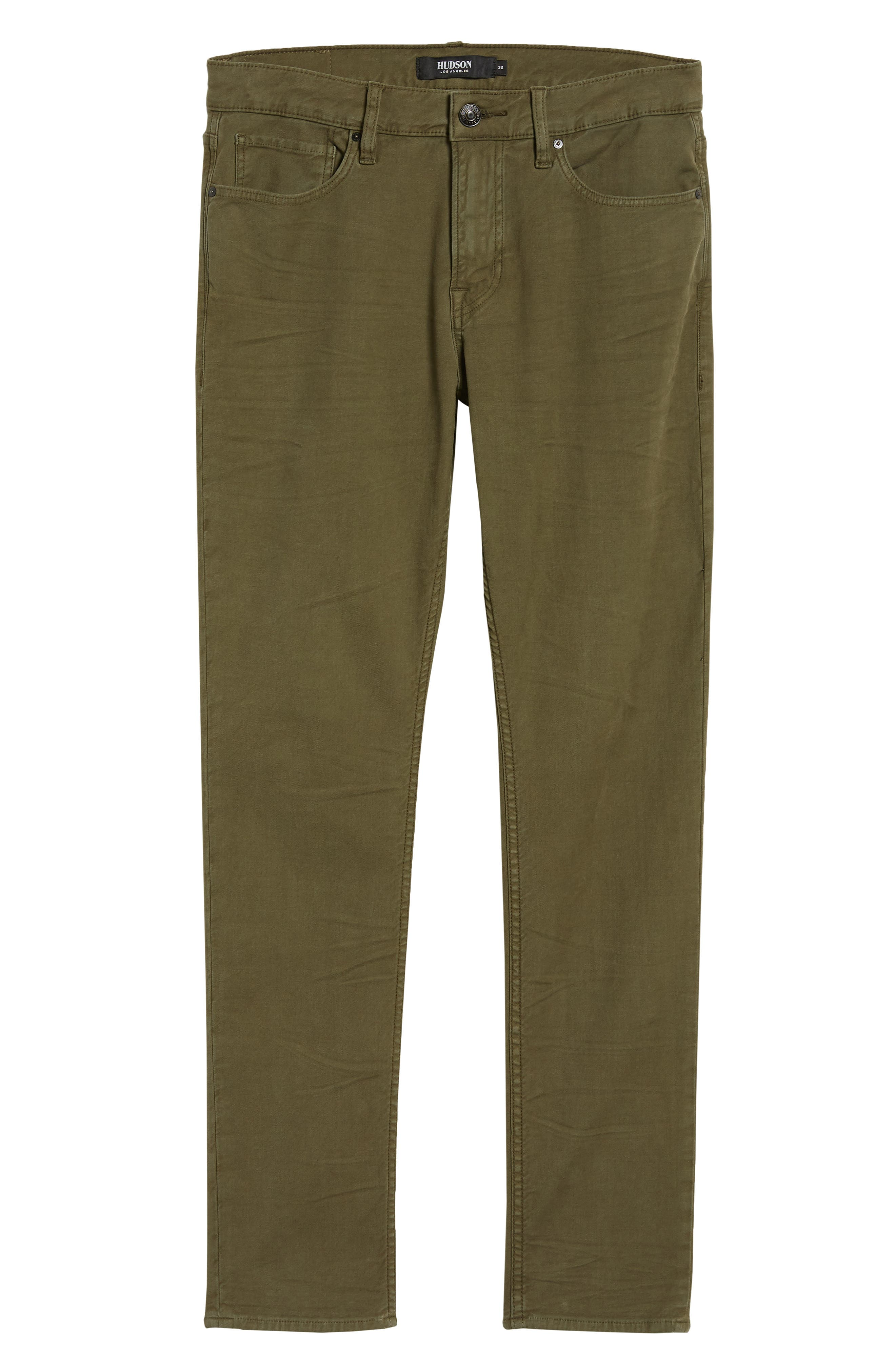 Axl Skinny Fit Jeans,                             Alternate thumbnail 6, color,                             FATIGUE GREEN