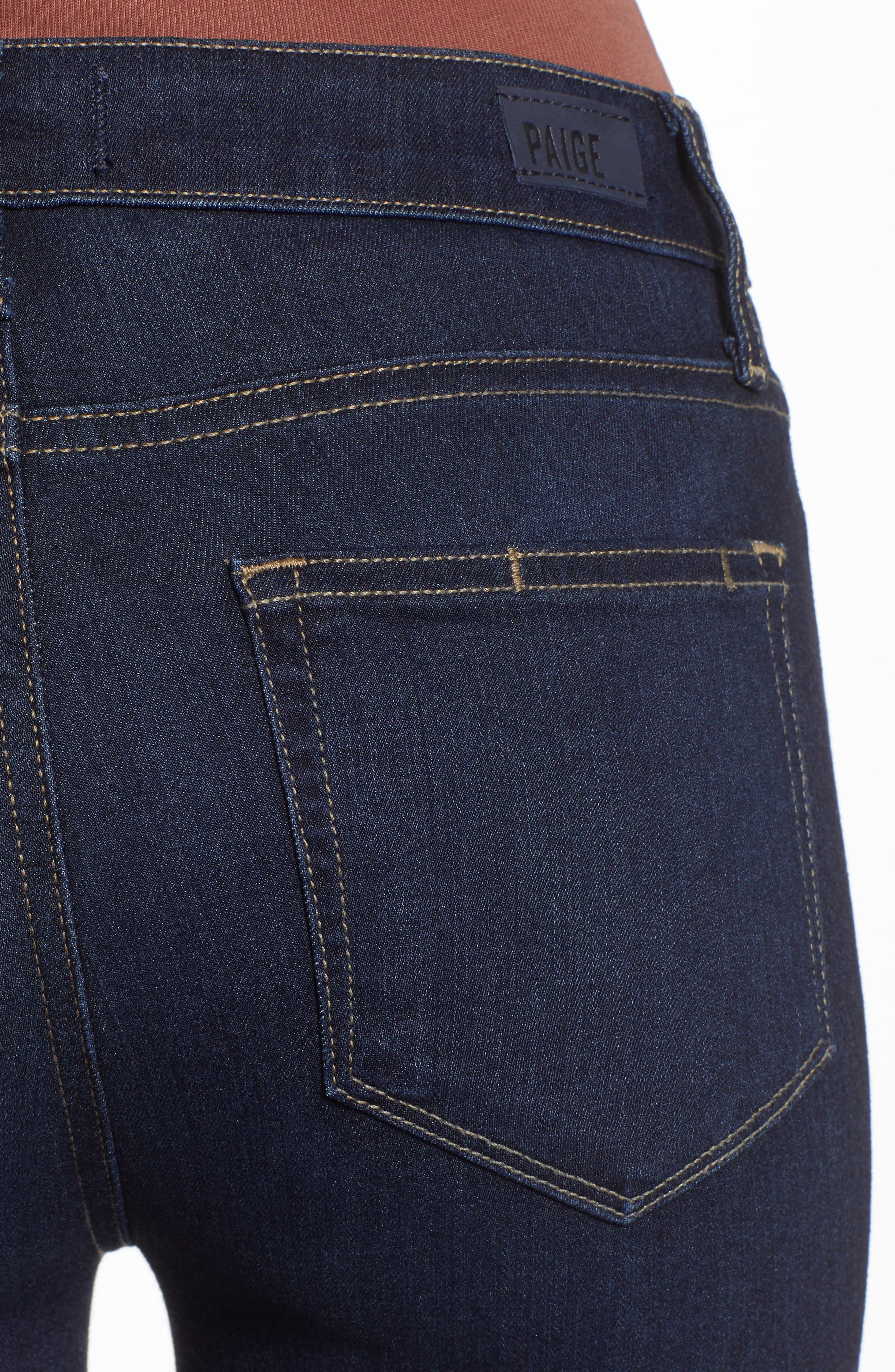 Transcend - Hoxton High Waist Ultra Skinny Jeans,                             Alternate thumbnail 4, color,                             SANIA