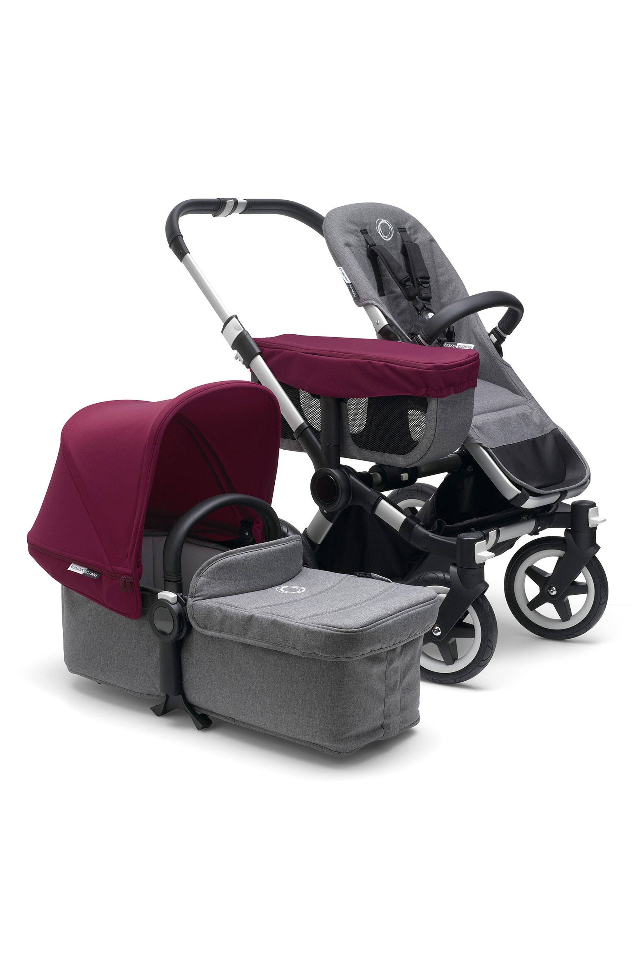 Donkey2 Mono Complete Stroller with Bassinet,                         Main,                         color, GREY MELANGE
