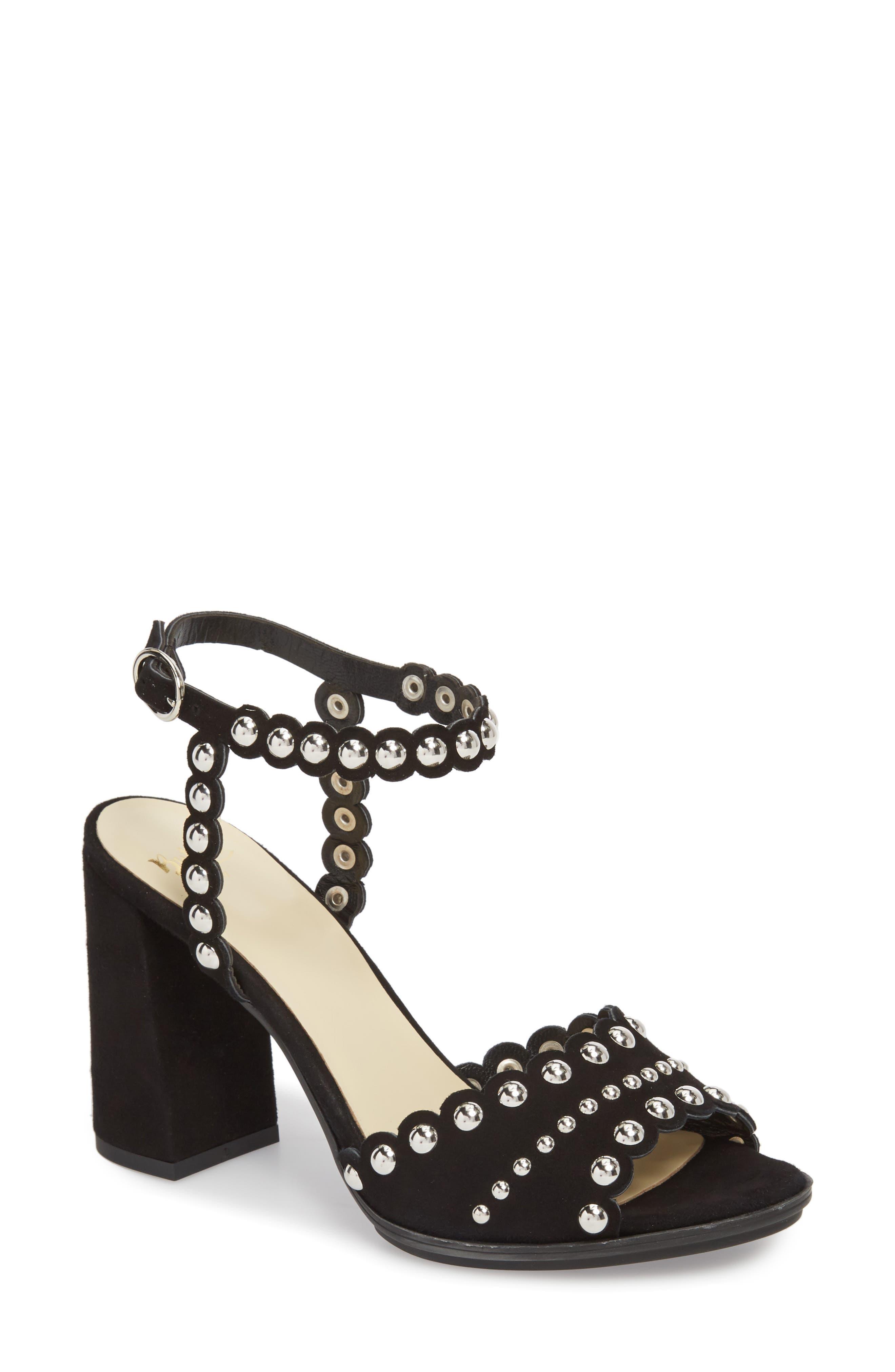 Butter Hetty Studded Ankle Strap Sandal,                             Main thumbnail 1, color,                             001