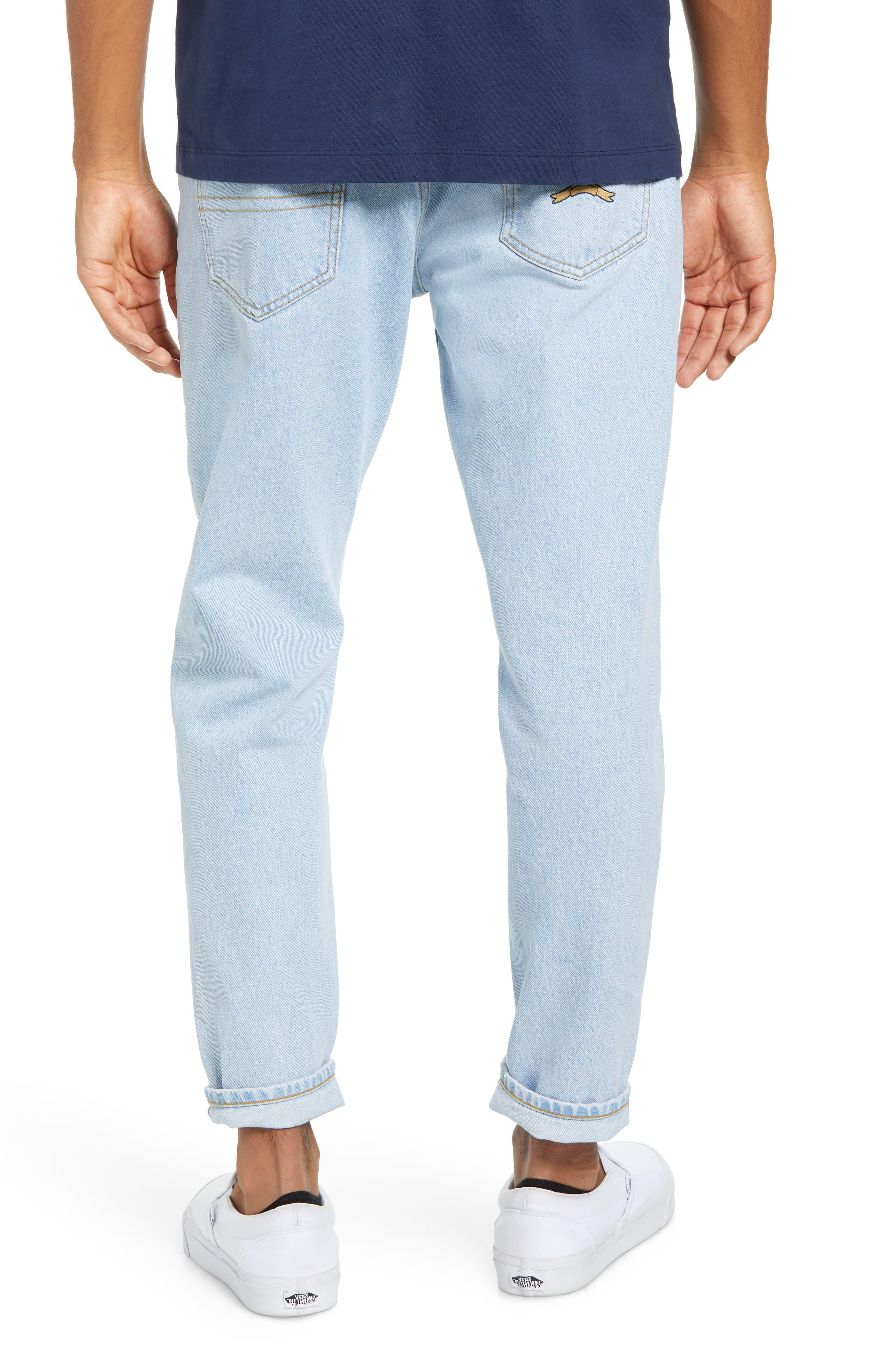 Crest Straight Leg Dad Jeans,                             Alternate thumbnail 2, color,                             LIGHT BLUE DENIM