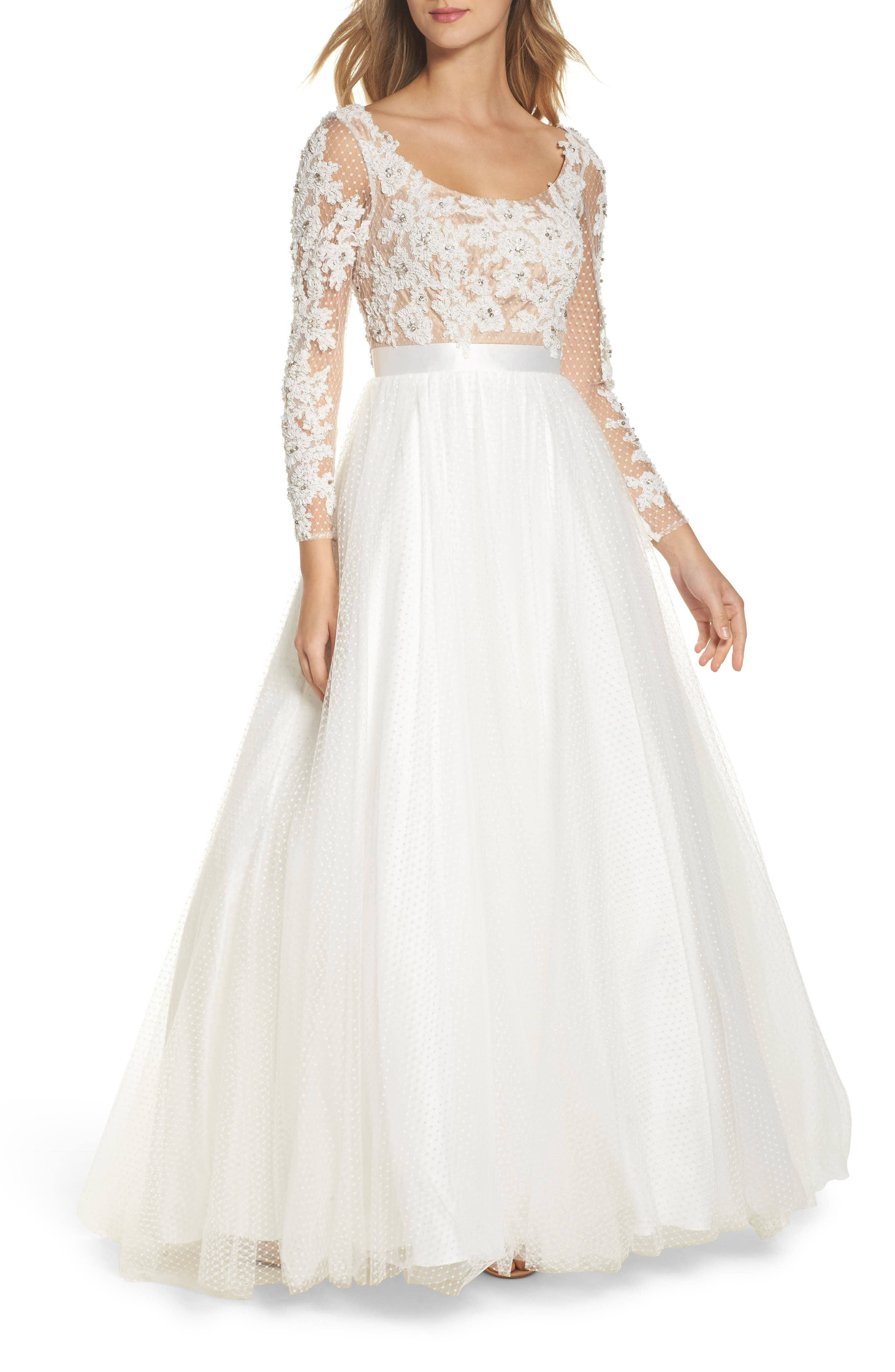 Beaded Bodice Gown,                         Main,                         color,
