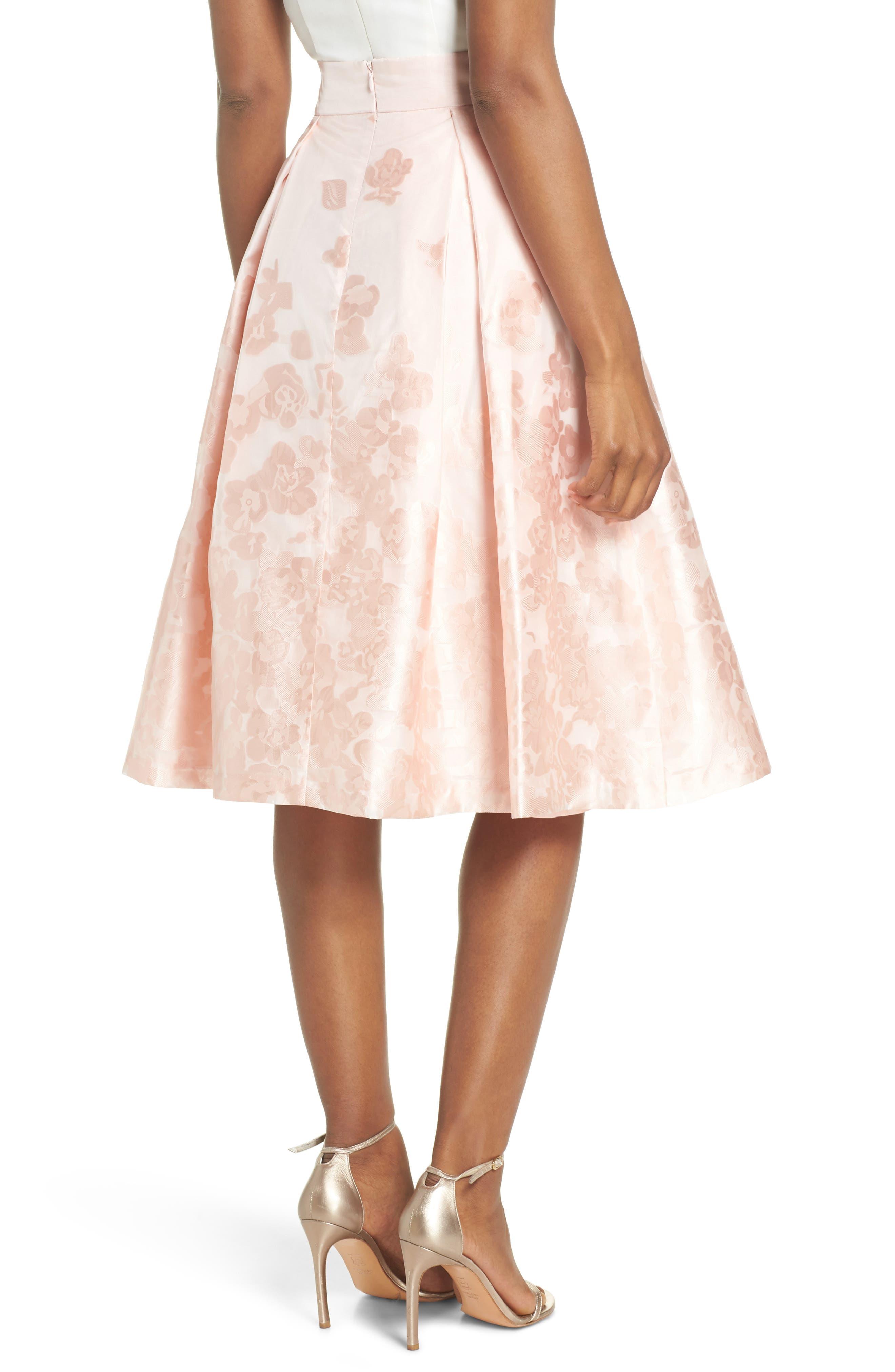 Jacquard A-Line Skirt,                             Alternate thumbnail 2, color,                             BLUSH