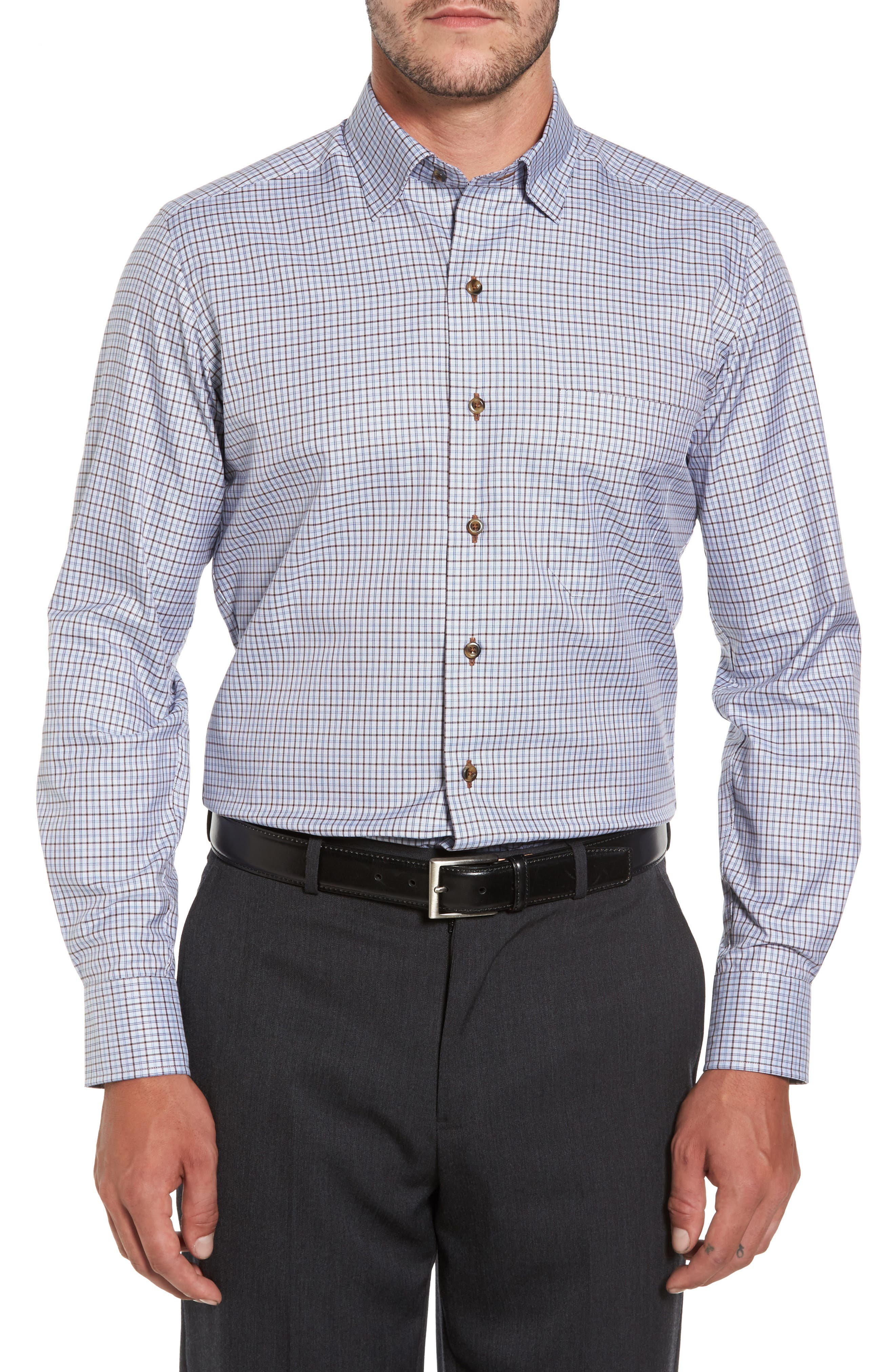 Plaid Regular Fit Sport Shirt,                         Main,                         color, 212