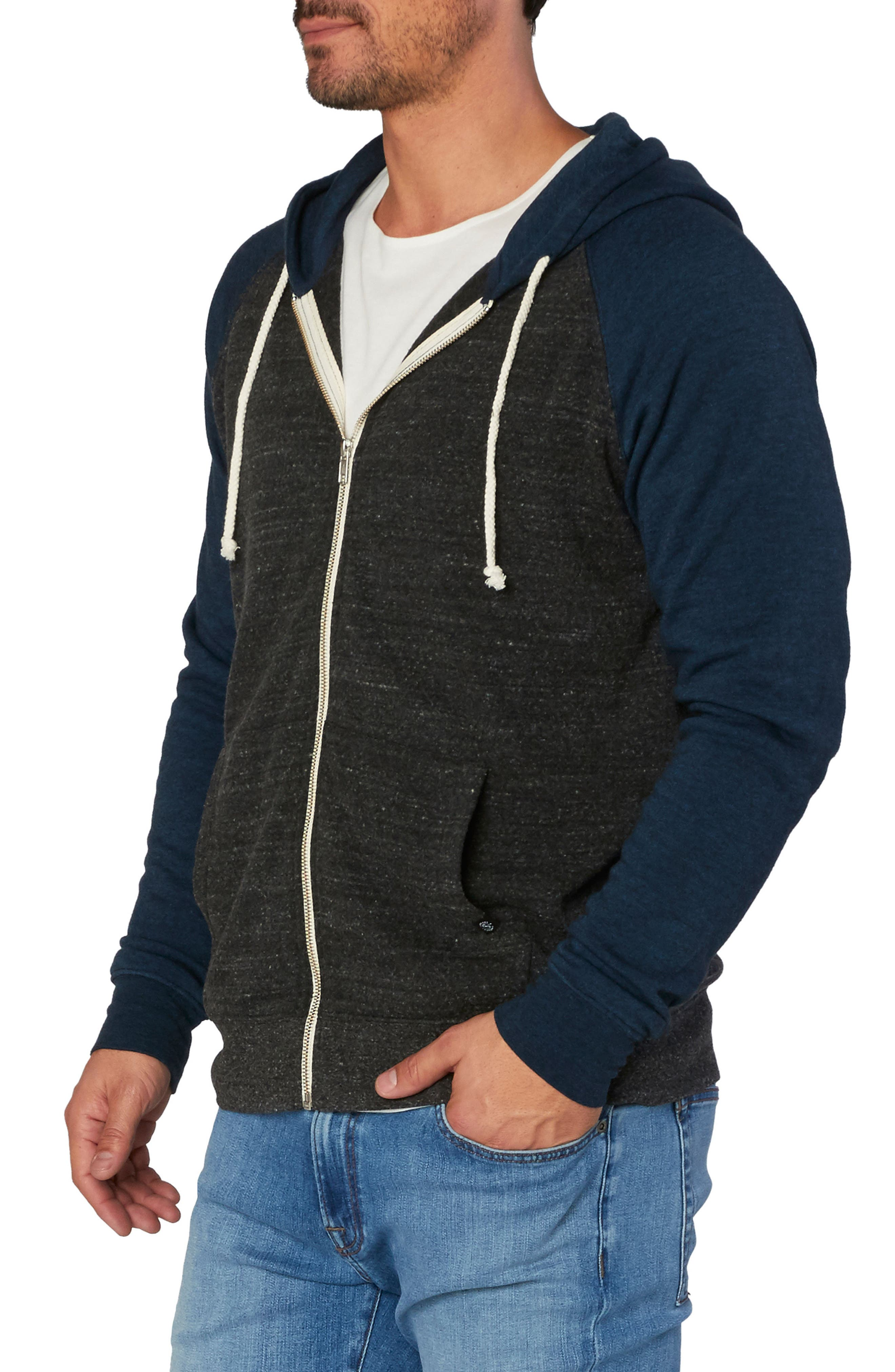 Threads for Thought Raglan Hoodie,                             Alternate thumbnail 3, color,                             001